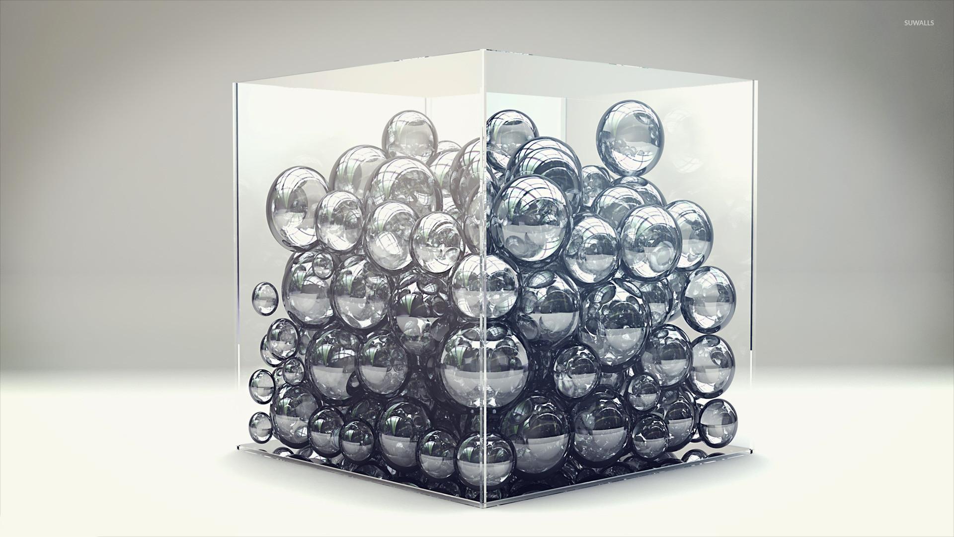 Bubbles in a cube wallpaper jpg