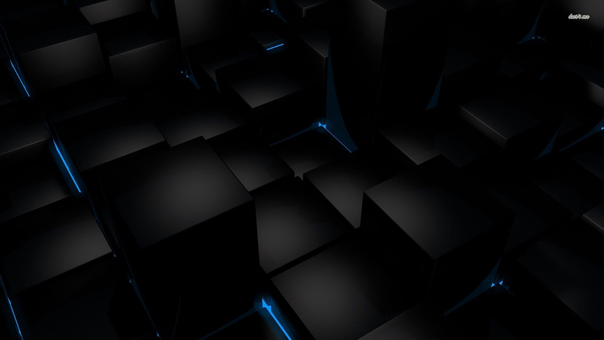 Black And Blue Wallpaper 1920×1080
