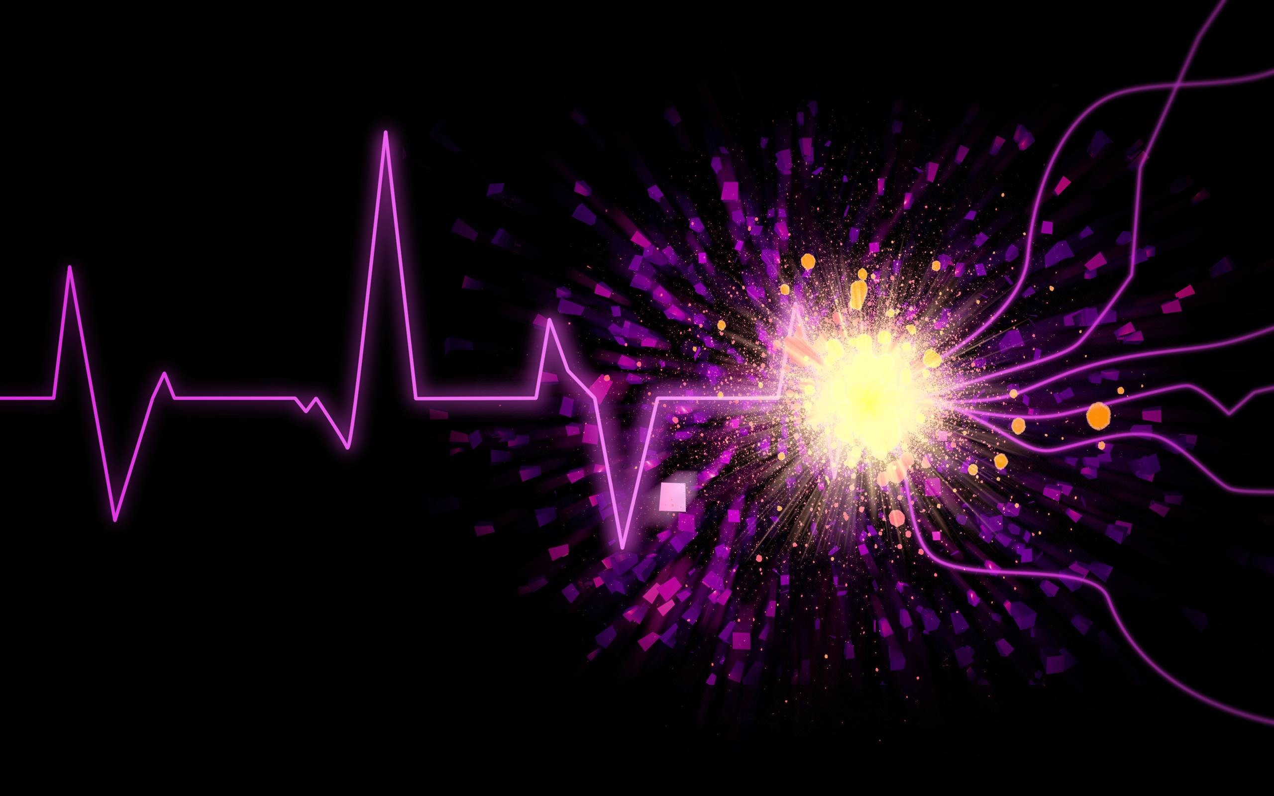 Pix For > Purple Sound Waves Wallpaper