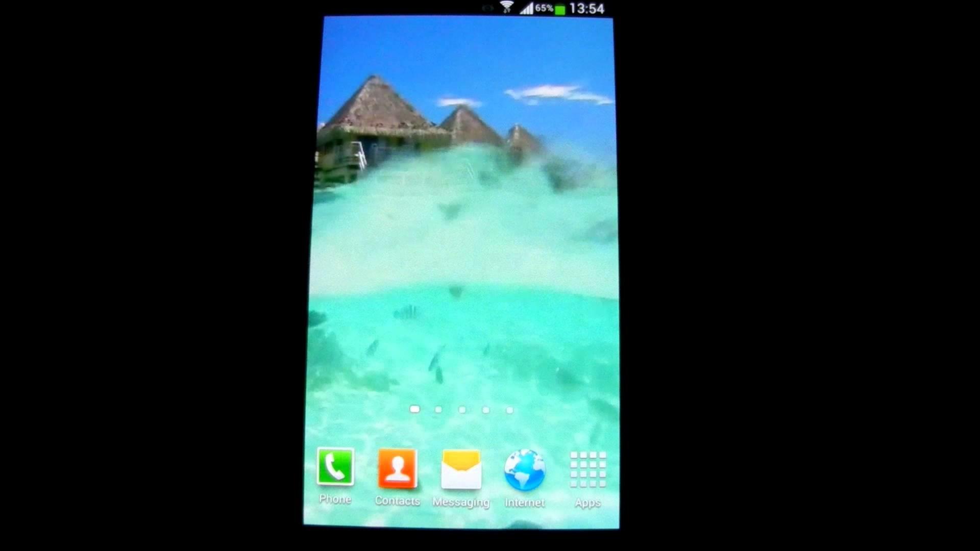 Lagoon Waves Live Wallpaper HD
