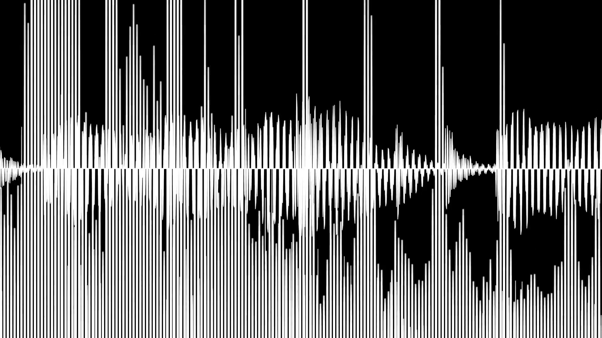 Subscription Library Audio waveform and spectrum animation, simple black  and white sound wave as motion background