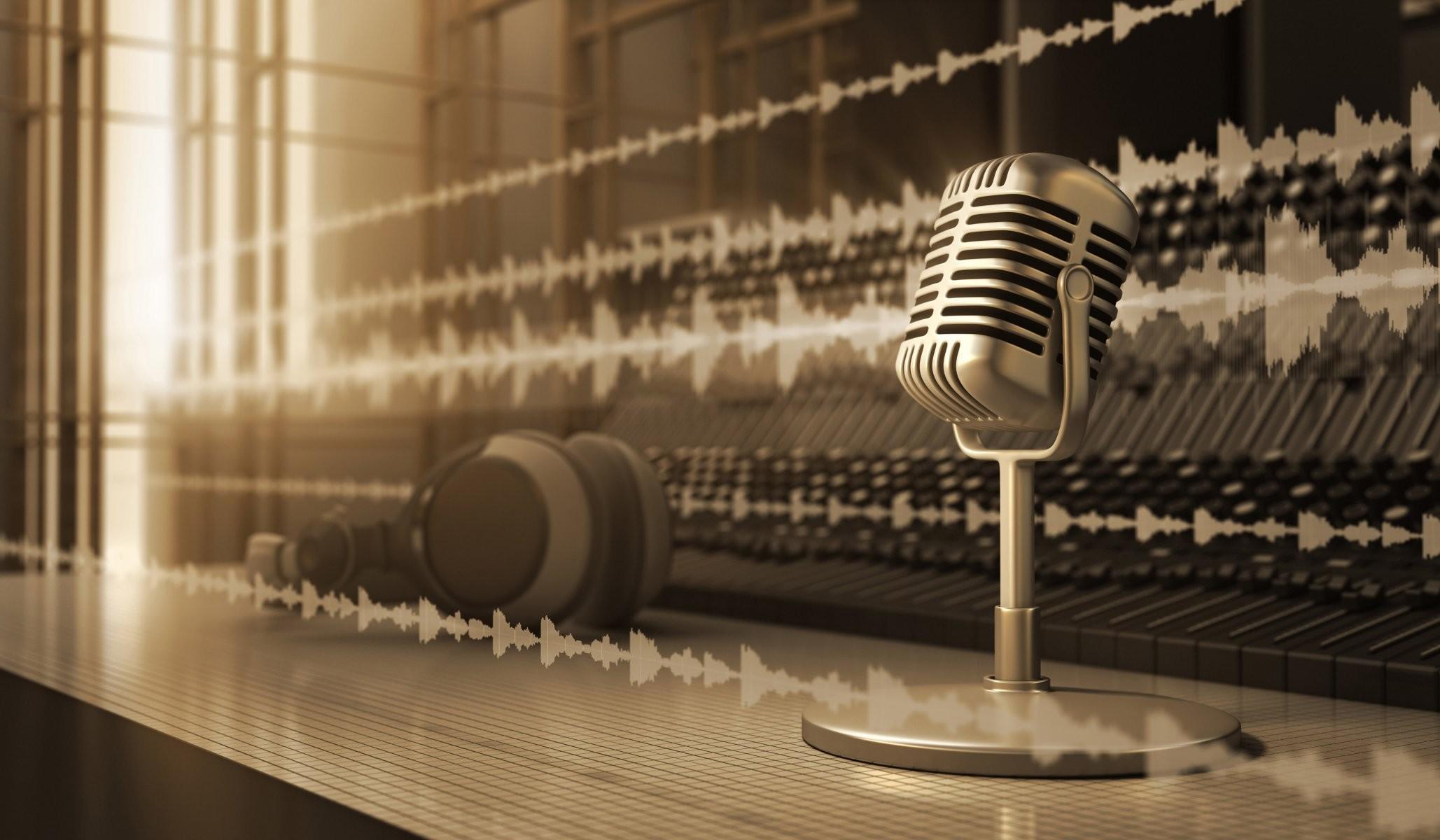 … art microphone silver retro audio headphones studio sound …