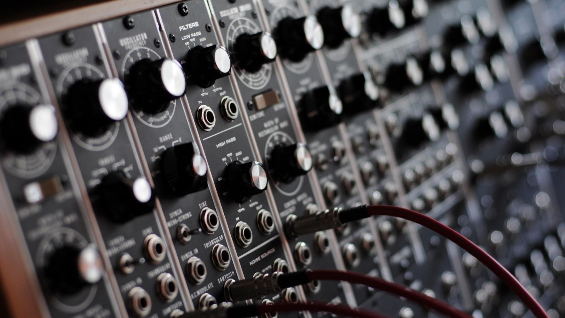 A Moog modular synthesizer.