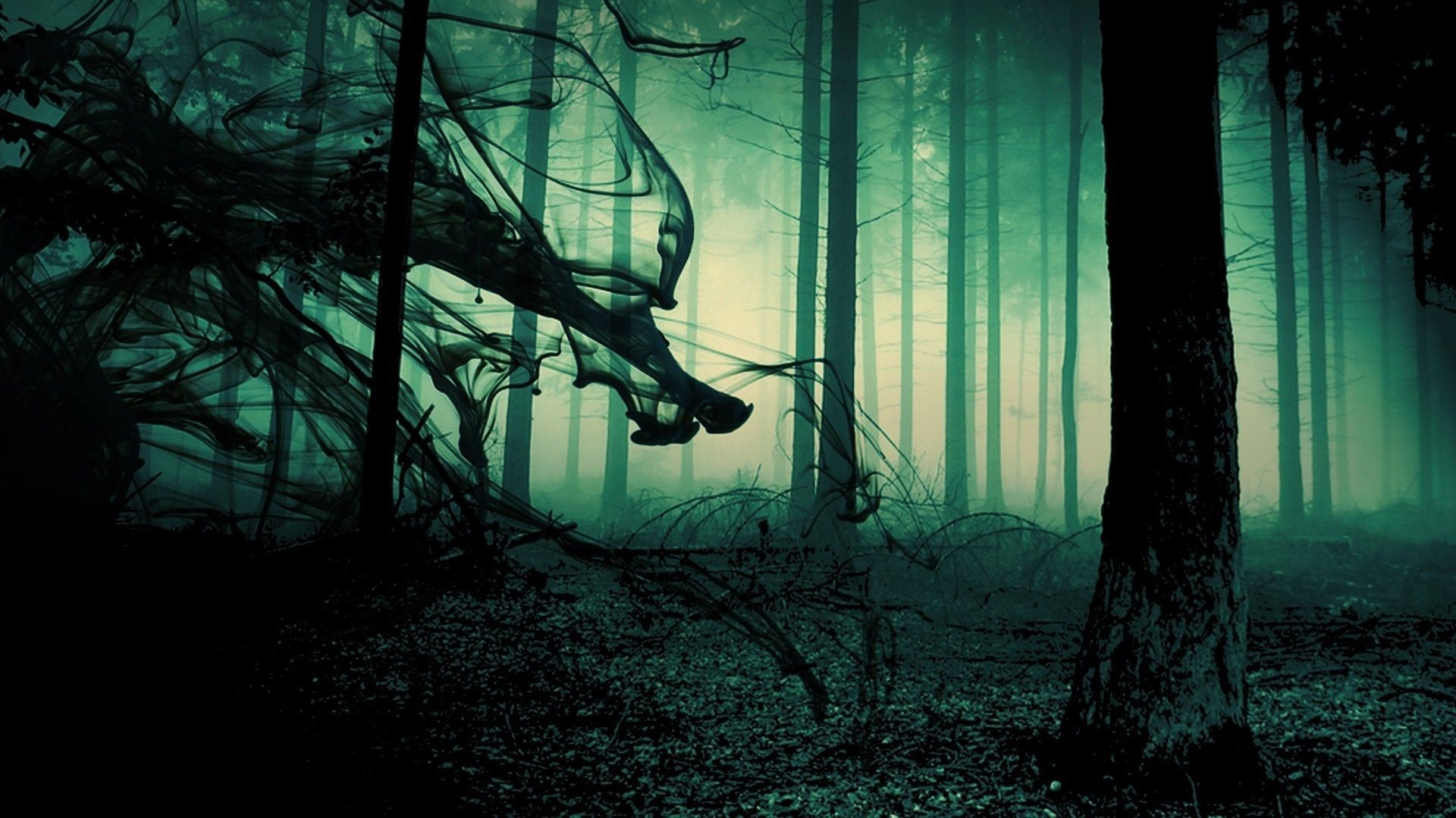 spooky forest background – Google Search