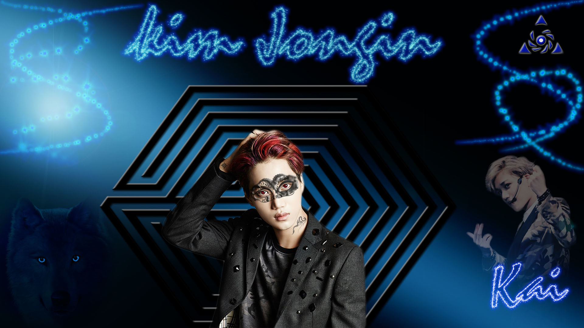 … Kai Kim Jongin Masquerade Desktop Wallpaper by Exo-Grafitti