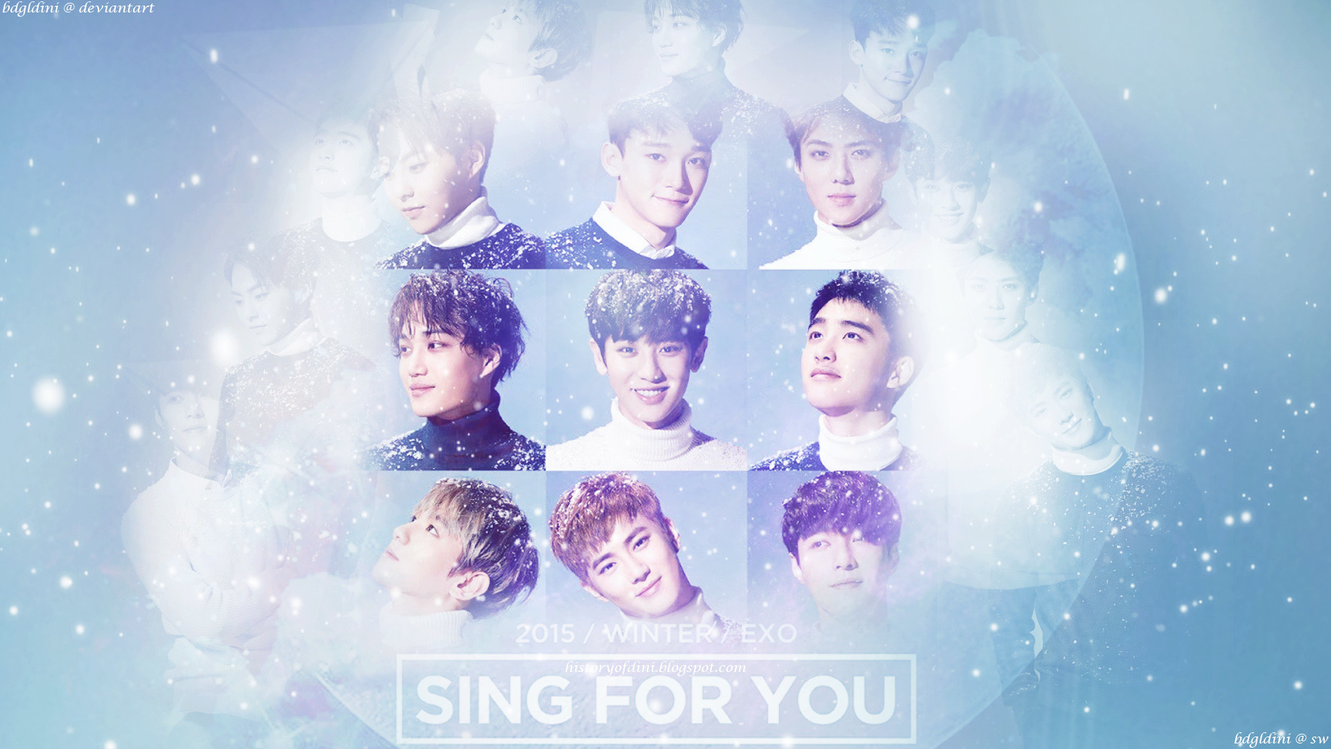 [WALLPAPER] EXO – Sing For You + PSD File