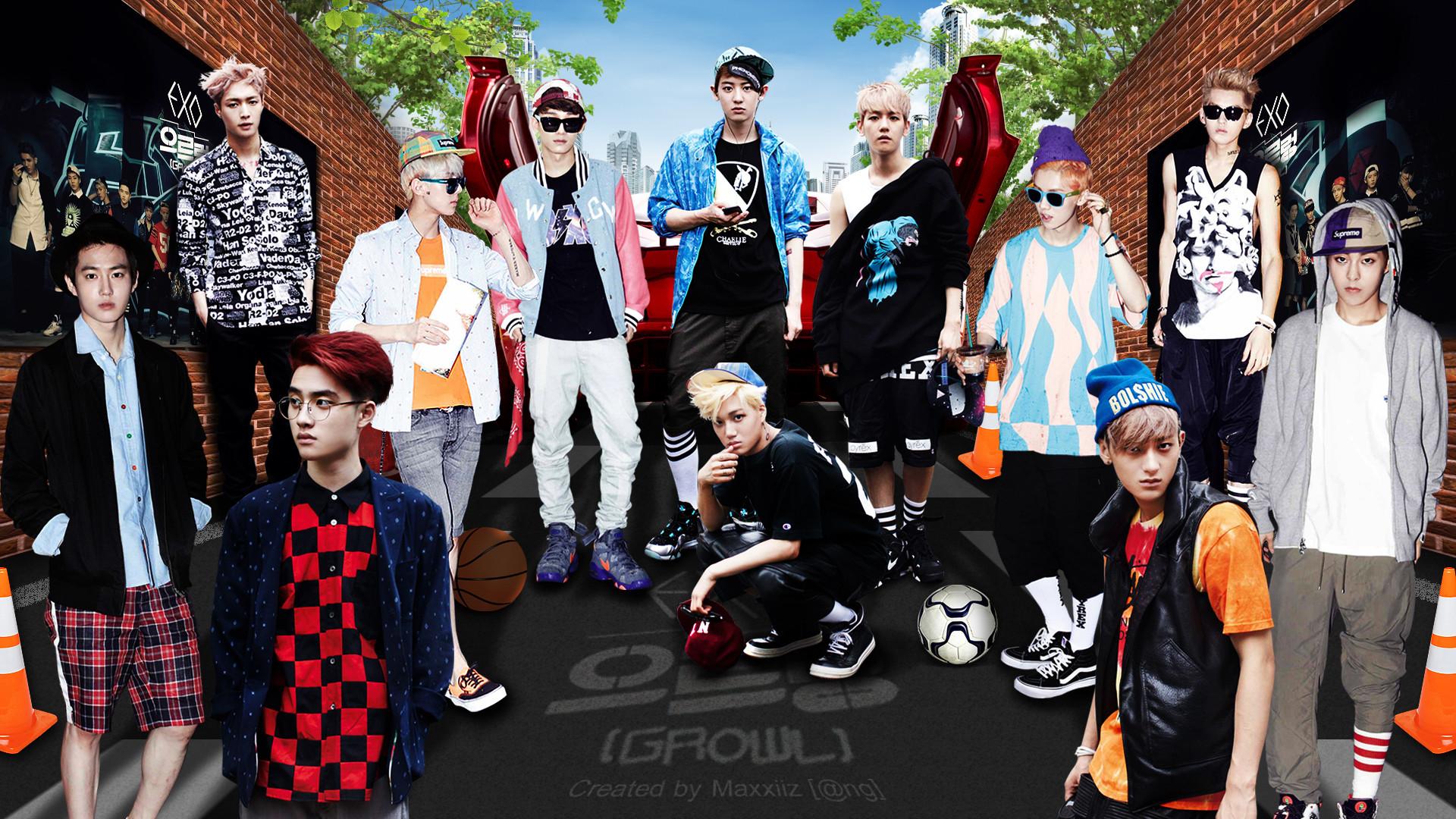 EXO Growl Teaser Dekstop Wallpaper HD Background