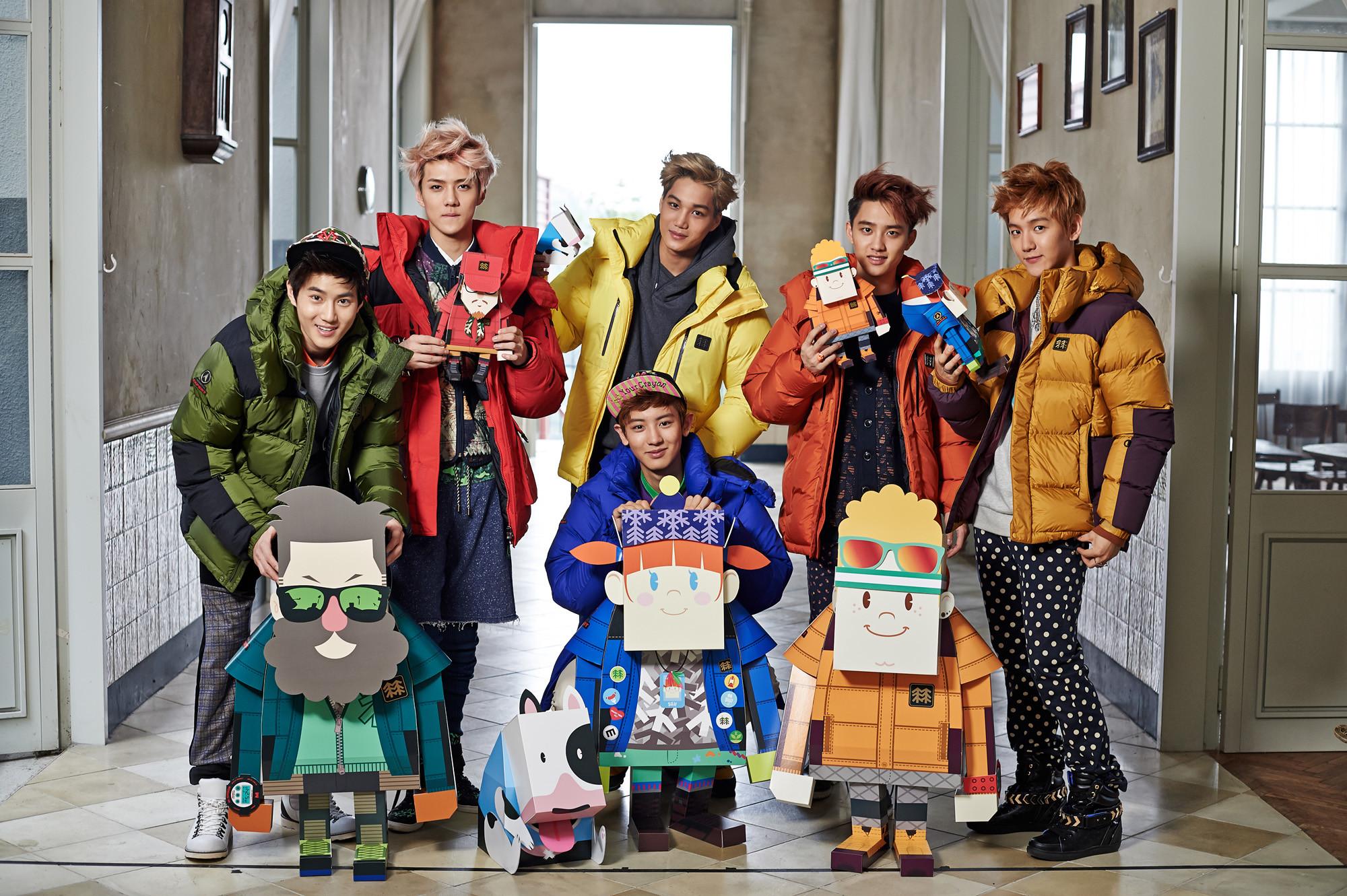 Check this best kpop EXO-K New CF Winter Style HD Wallpaper korean wallpaper  hd quality.