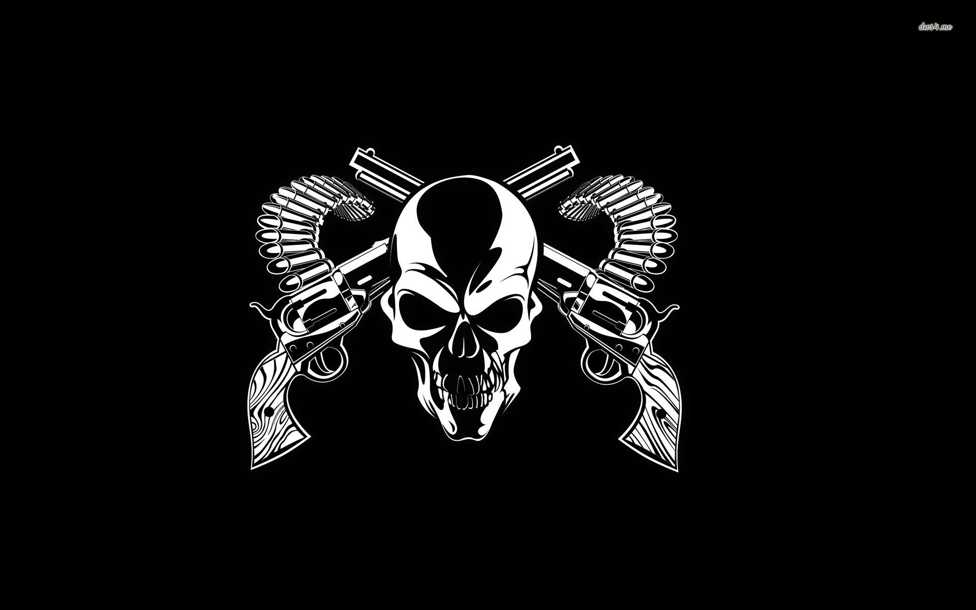 Wallpaper iphone guns n roses – Guns And A Skull 705407