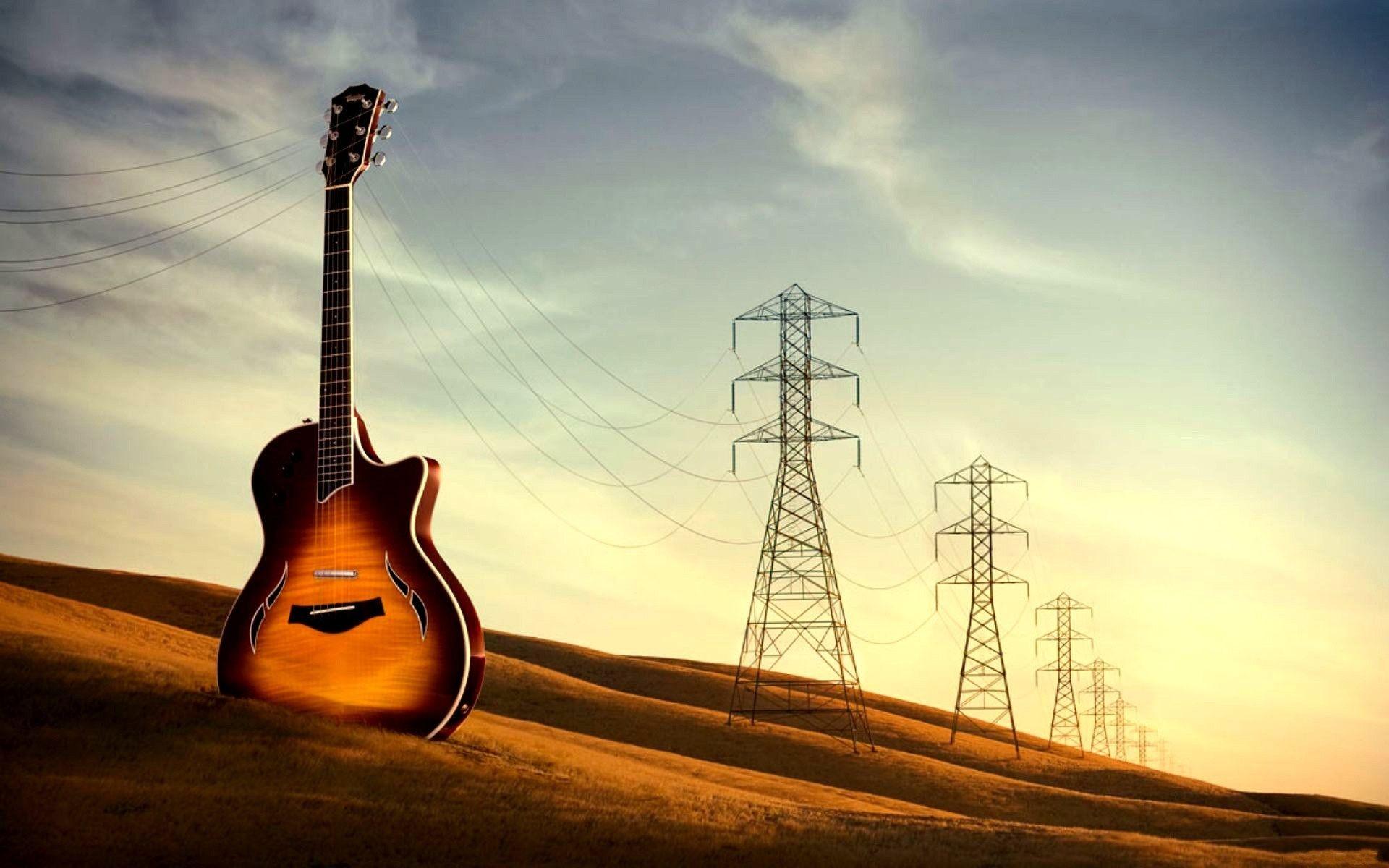 Funny Guitar Wallpaper