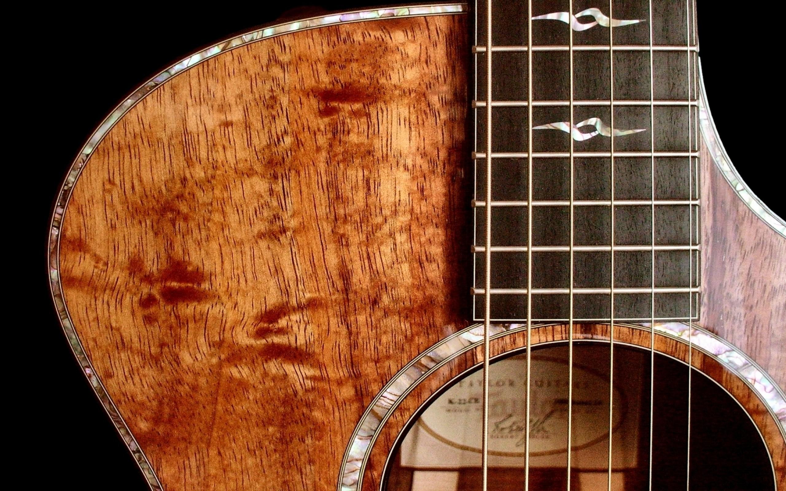 Wallpaper guitar, wood, strings, background, light