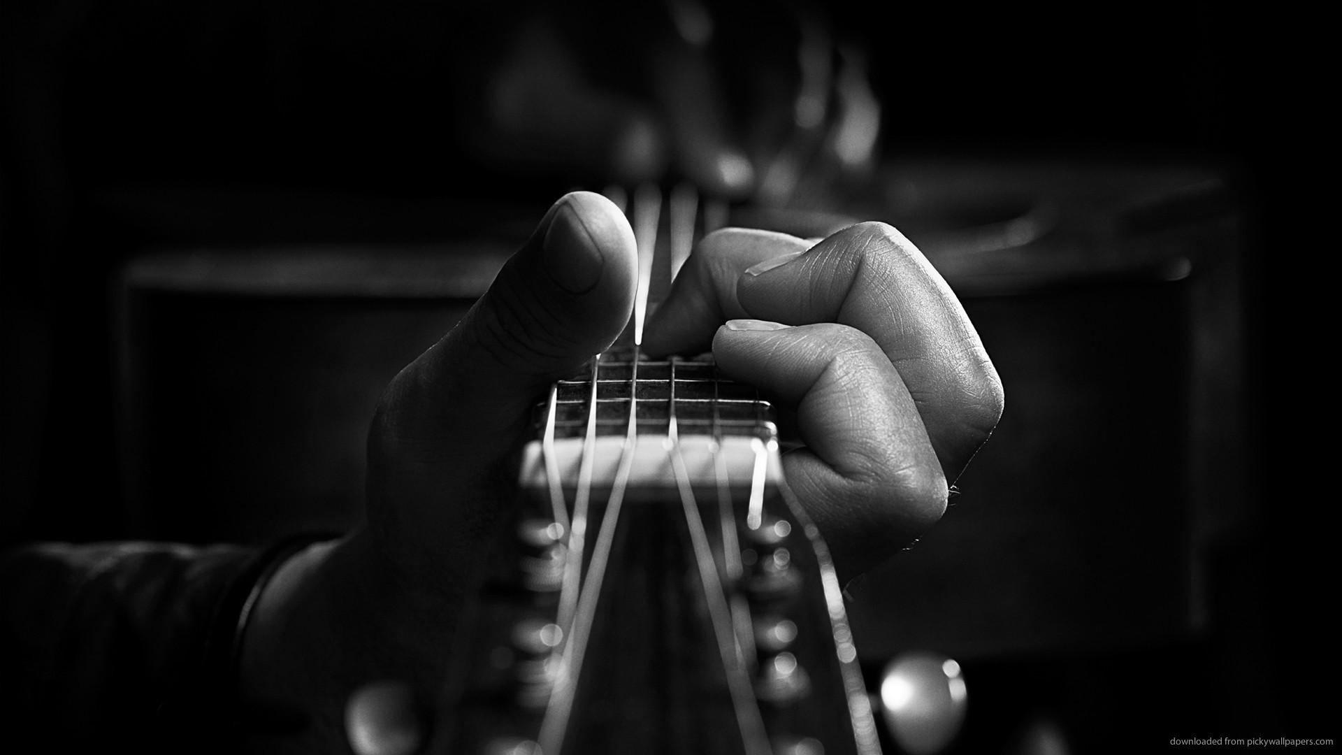 HD Playing Guitar wallpaper