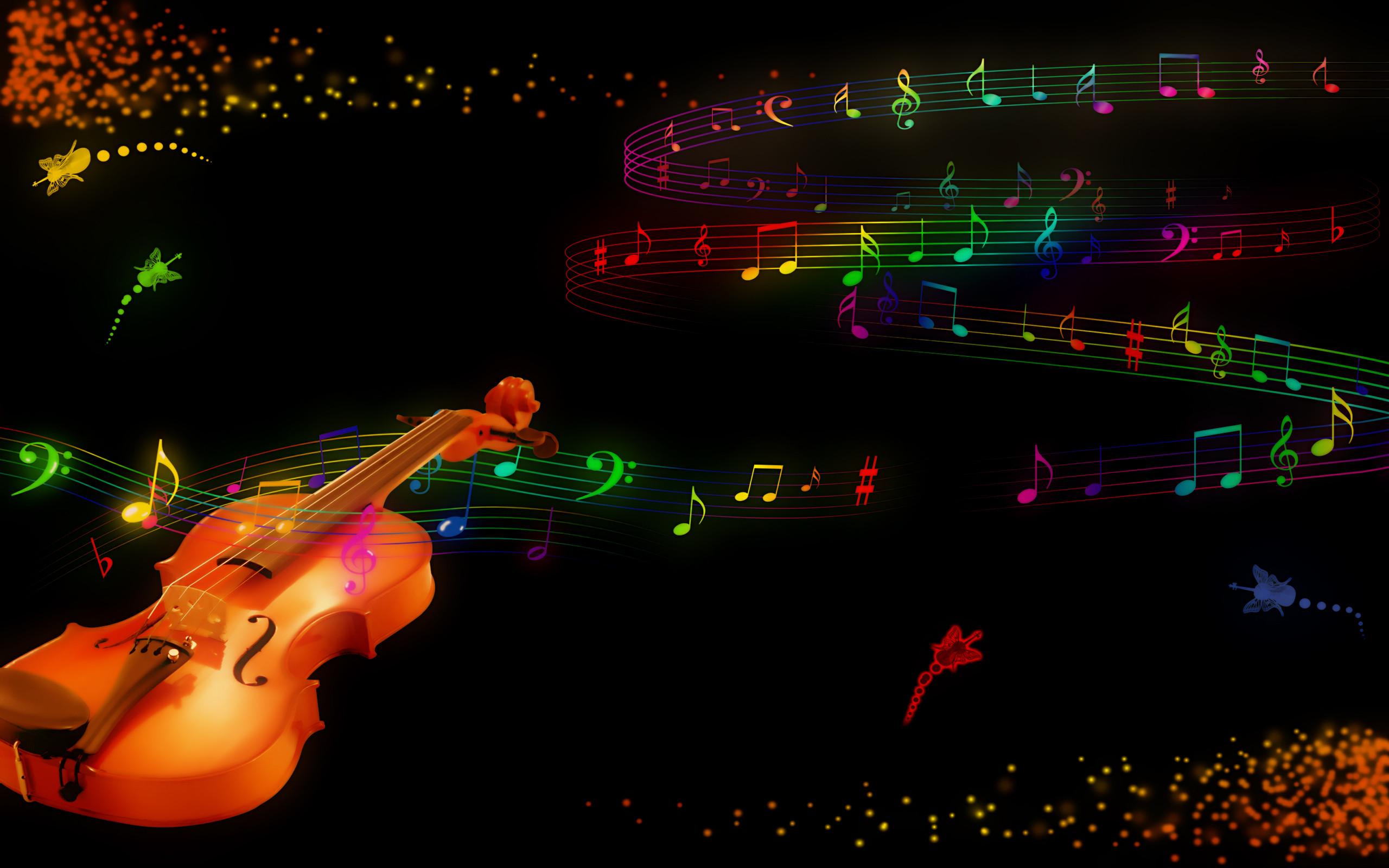 Violin and Music Wallpaper