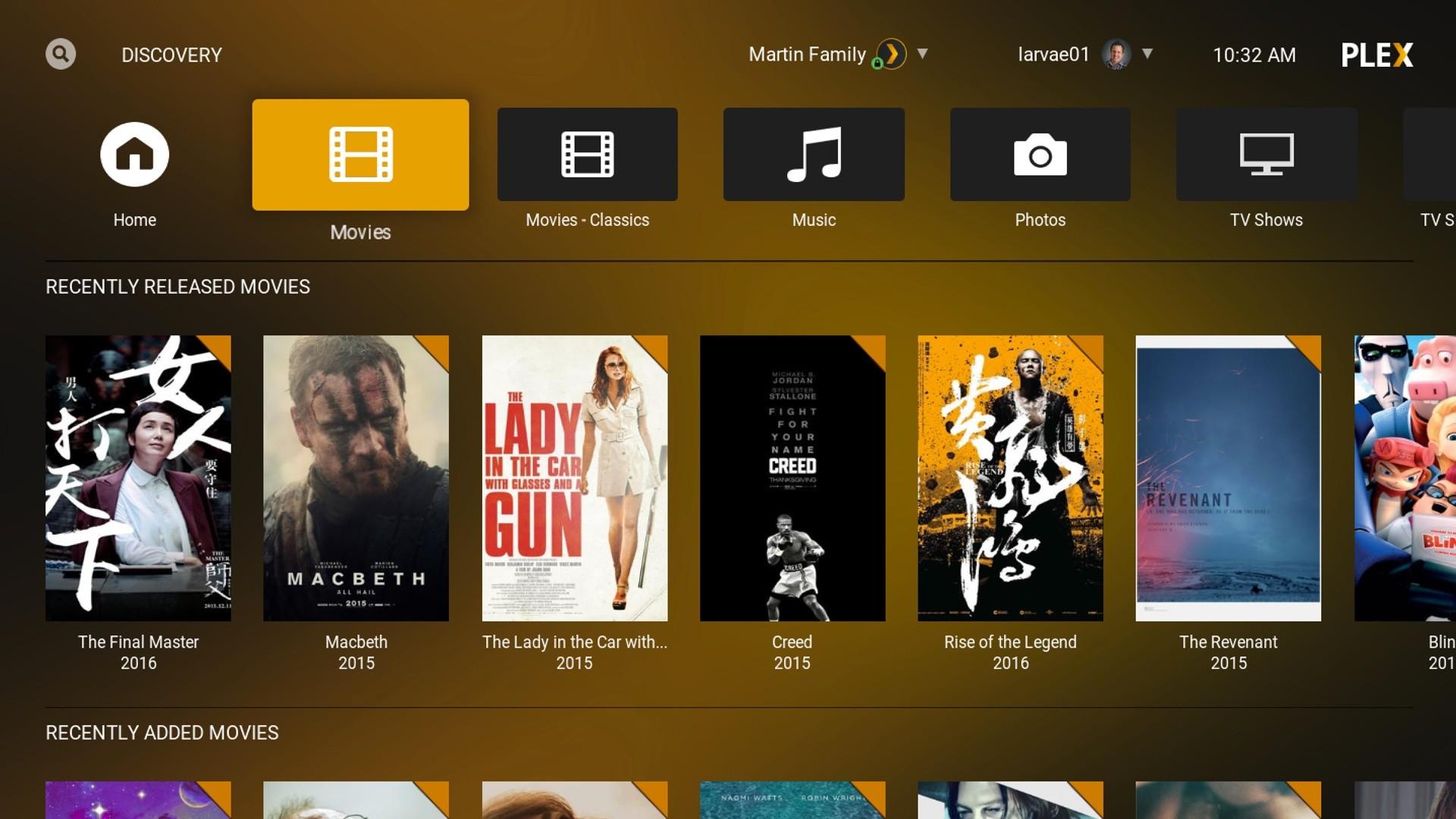 Plex add-on for Kodi movies screenshot 001