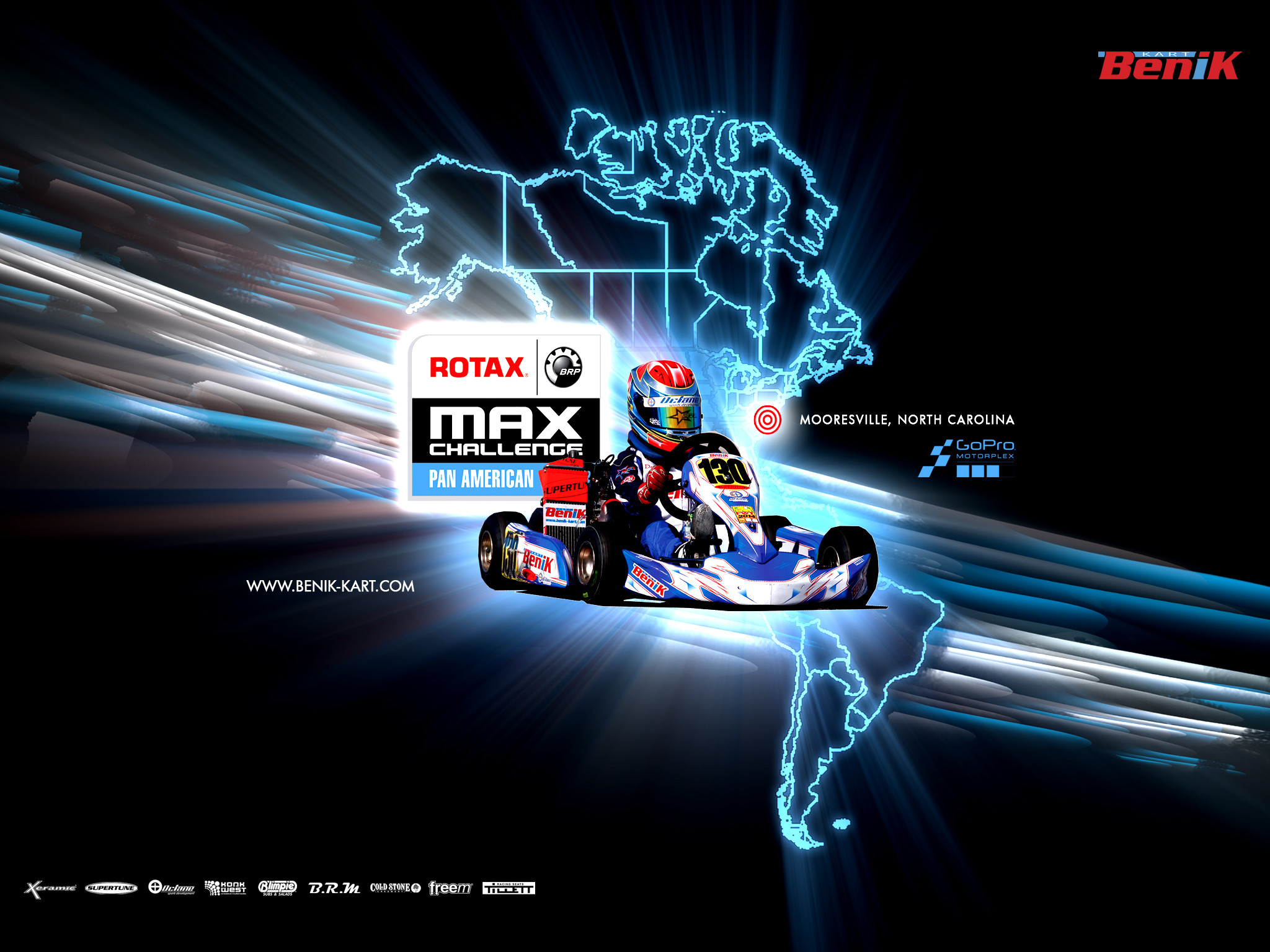 BENIK Kart – ROTAX Pan American Race – Wallpaper 2048×1536
