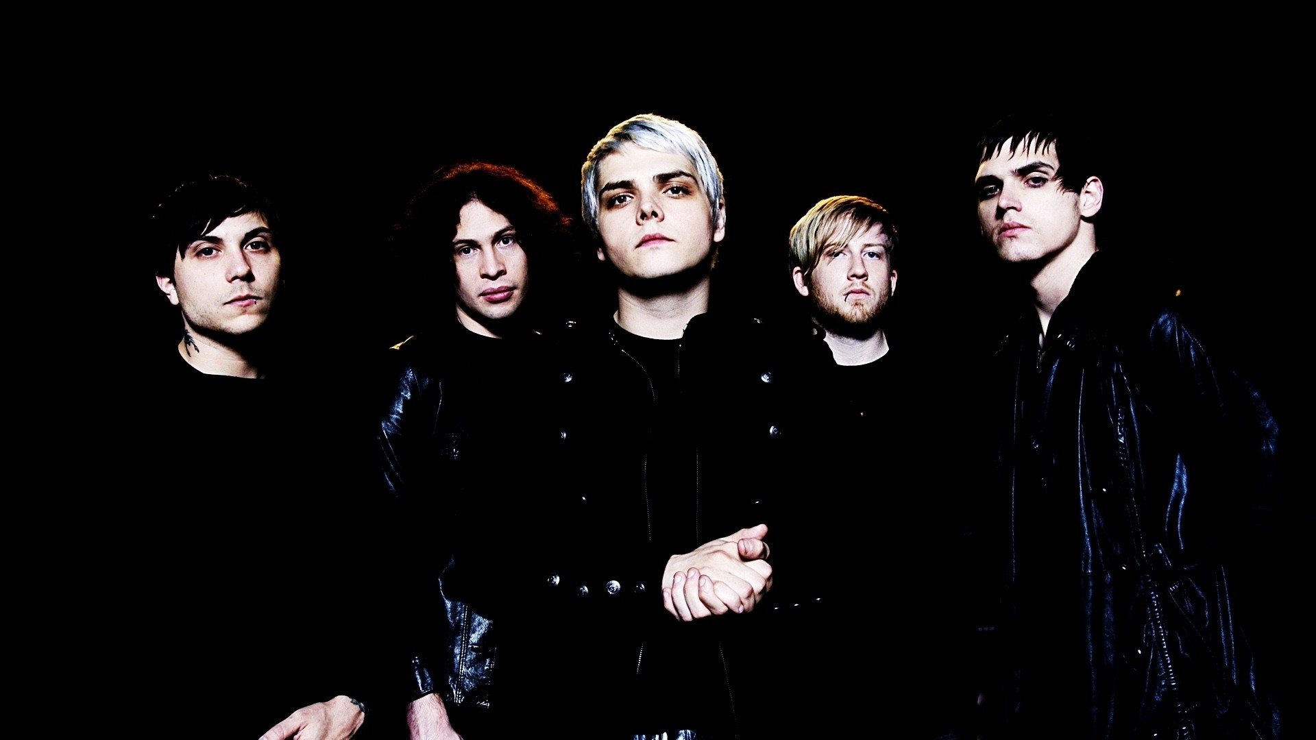 Preview wallpaper my chemical romance, band, members, look, background  1920×1080