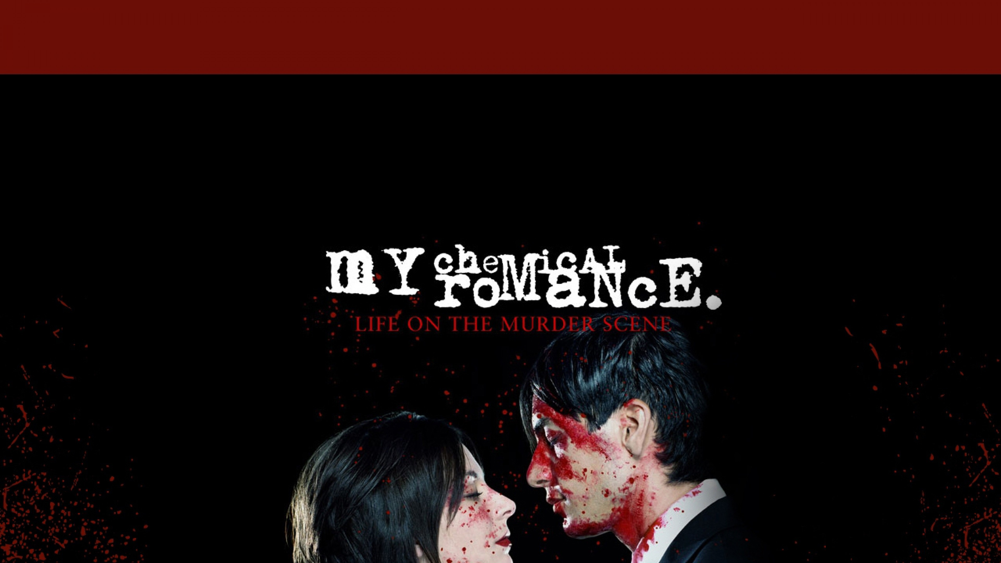 Wallpaper my chemical romance, cover, blood, sign, couple