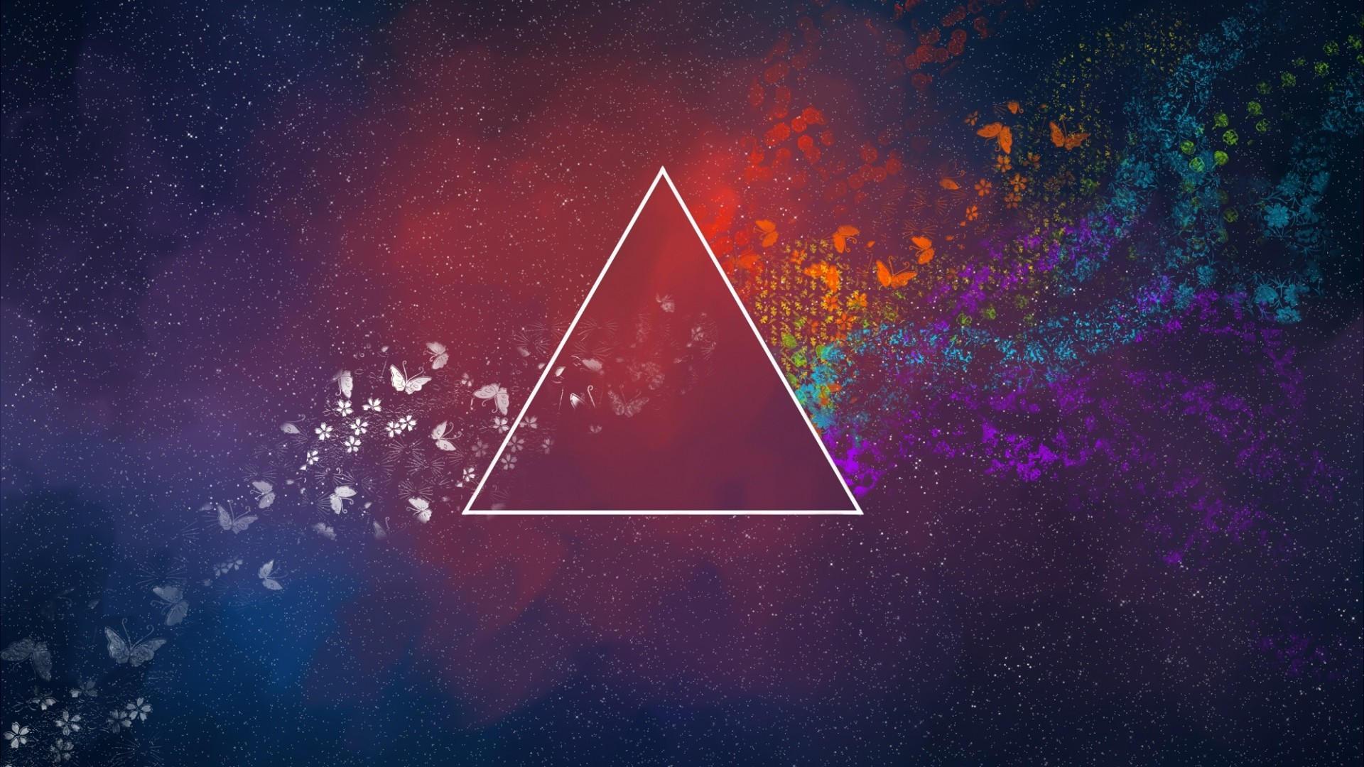 triangle, Colorful, Abstract, Butterfly, Pink Floyd Wallpapers HD / Desktop  and Mobile Backgrounds