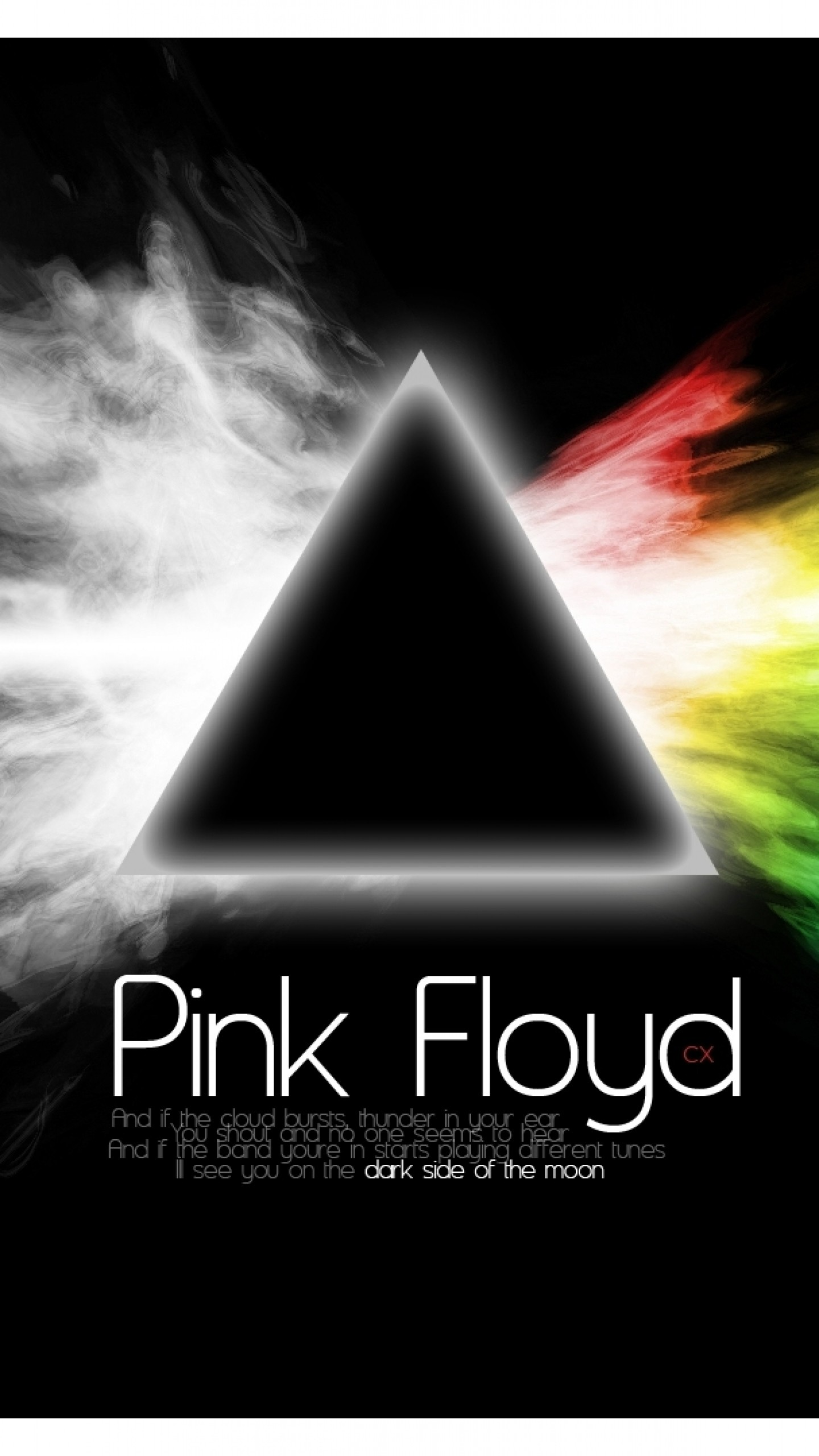 Wallpaper pink floyd, sign, text, graphics, triangle