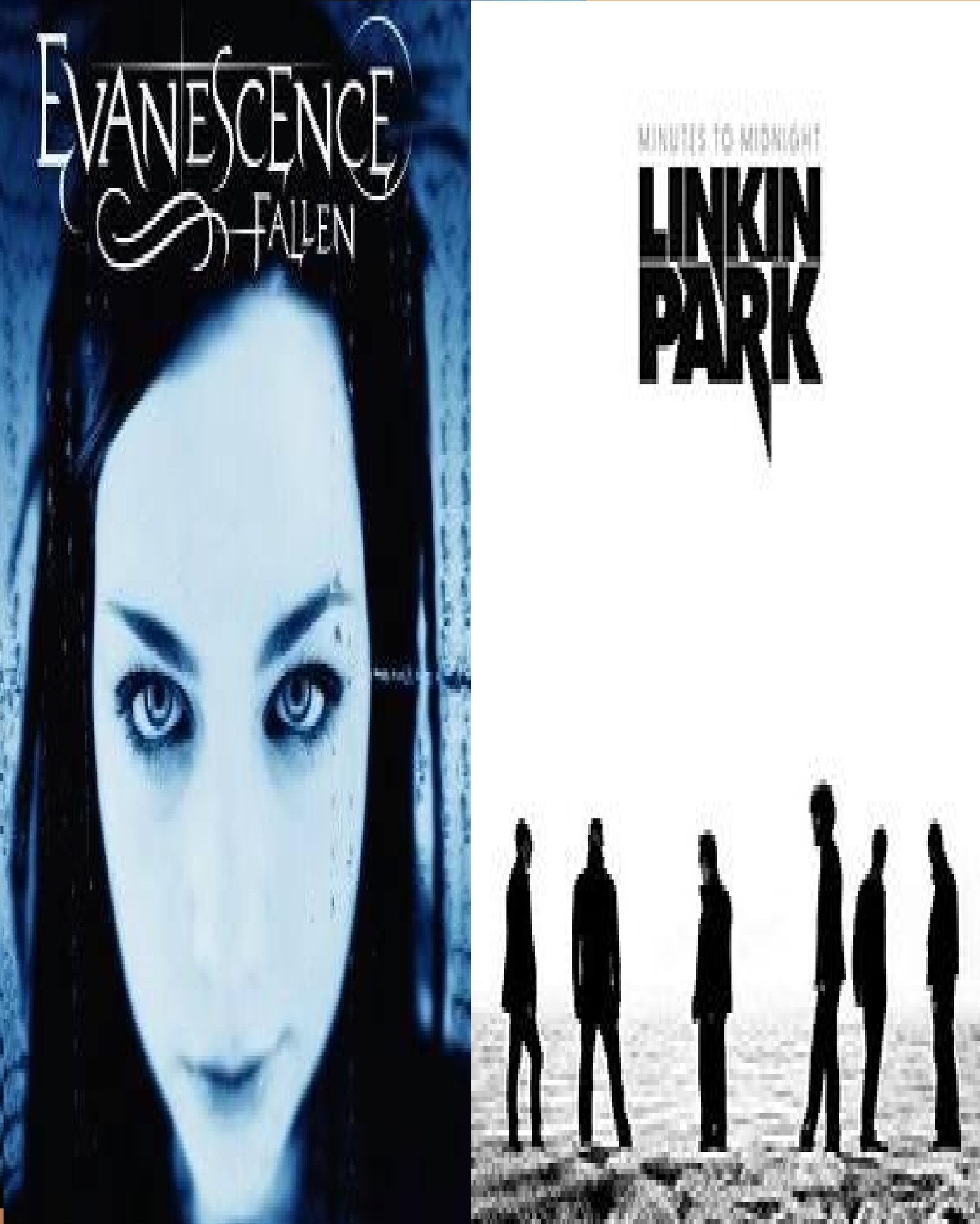 Evanescence vs. Linkin Park images Fallen vs Minutes to Midnight.Which  album do you vote for? HD wallpaper and background photos