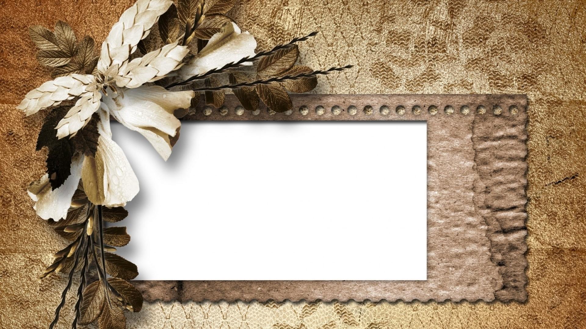 Preview wallpaper vintage, retro, dried flower, petals, paper 1920×1080