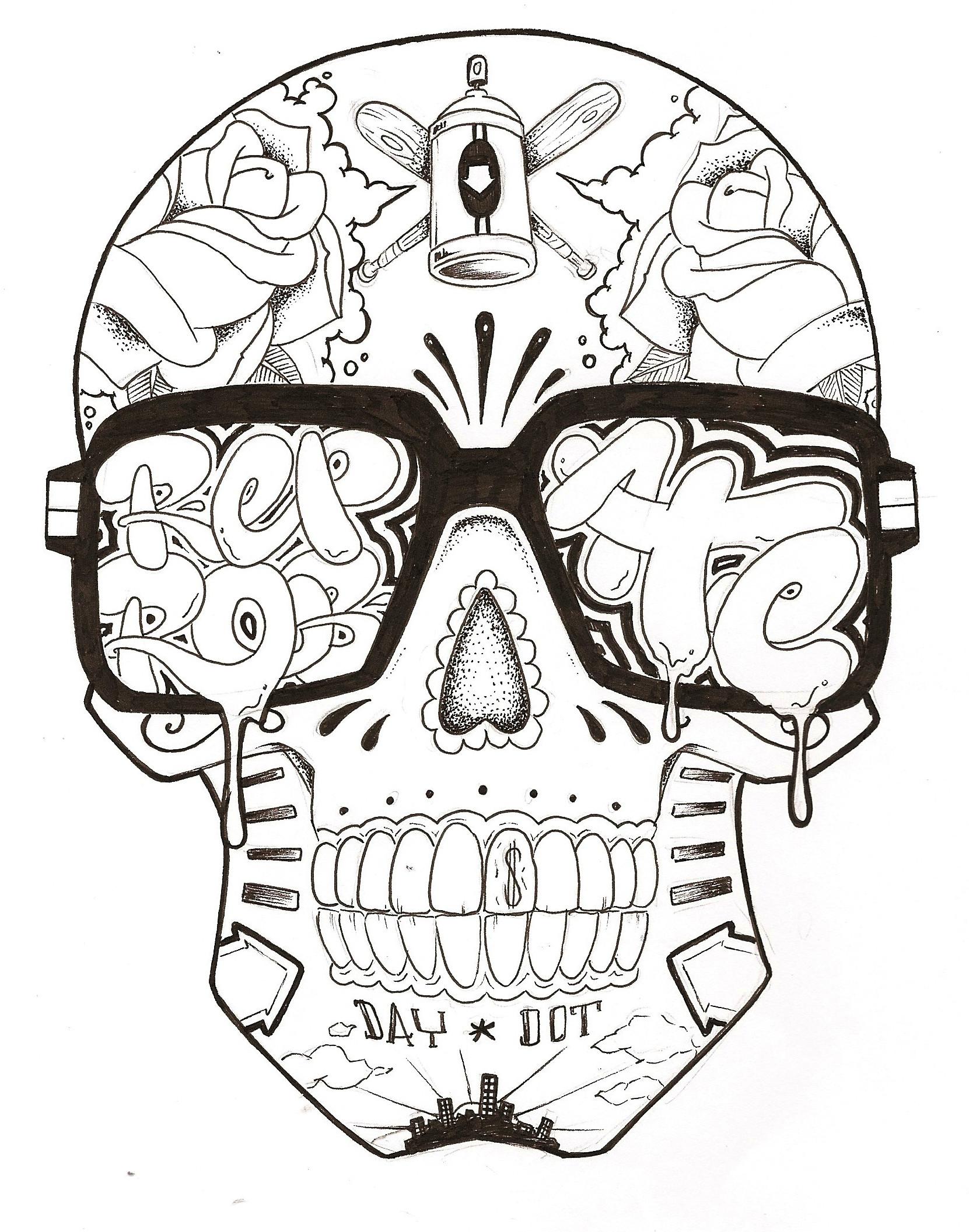 "12 photos of the ""Graffiti Alfabet Skull"""