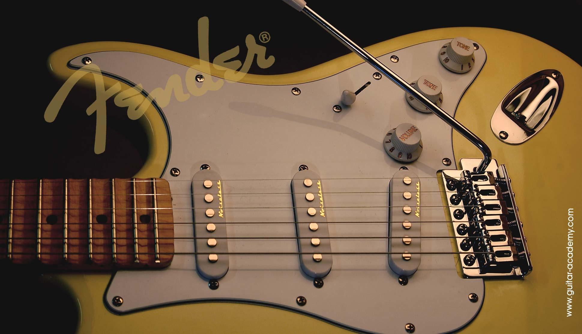 Guitar wallpaper, Fender Stratocaster guitar