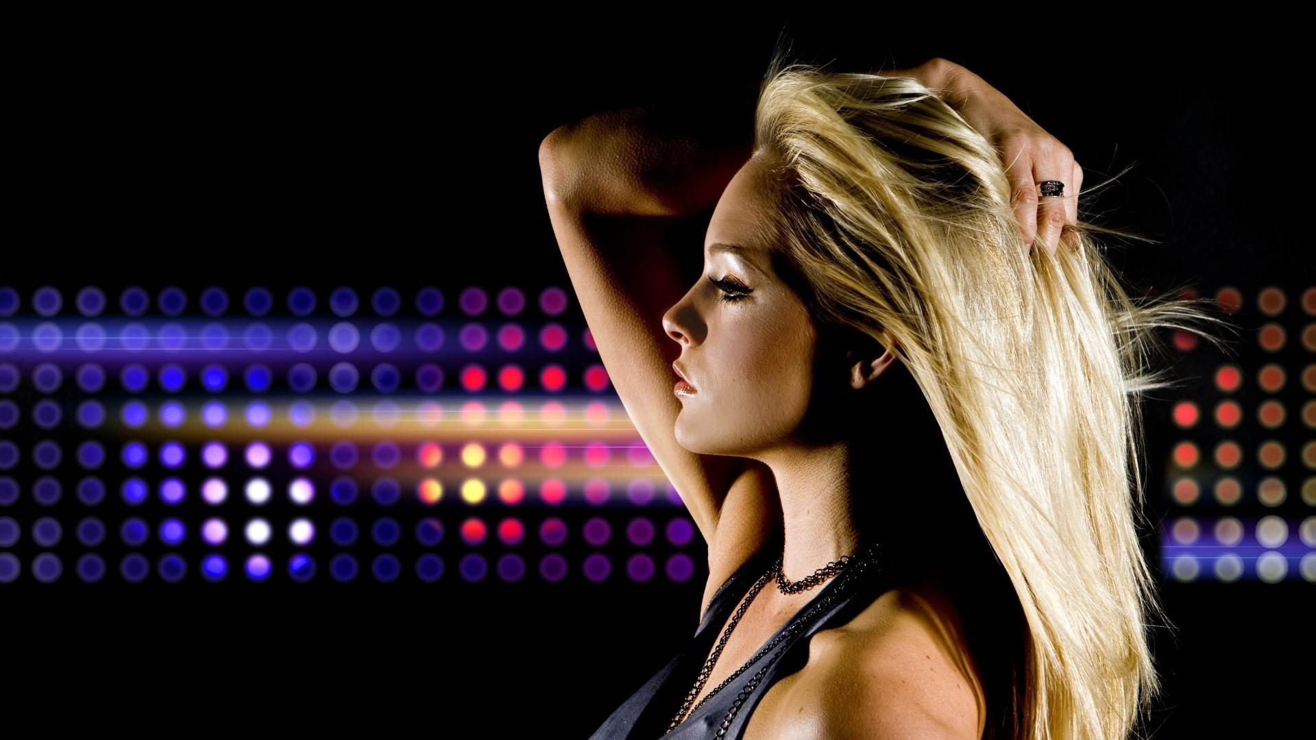 … bar · profile, girl, club