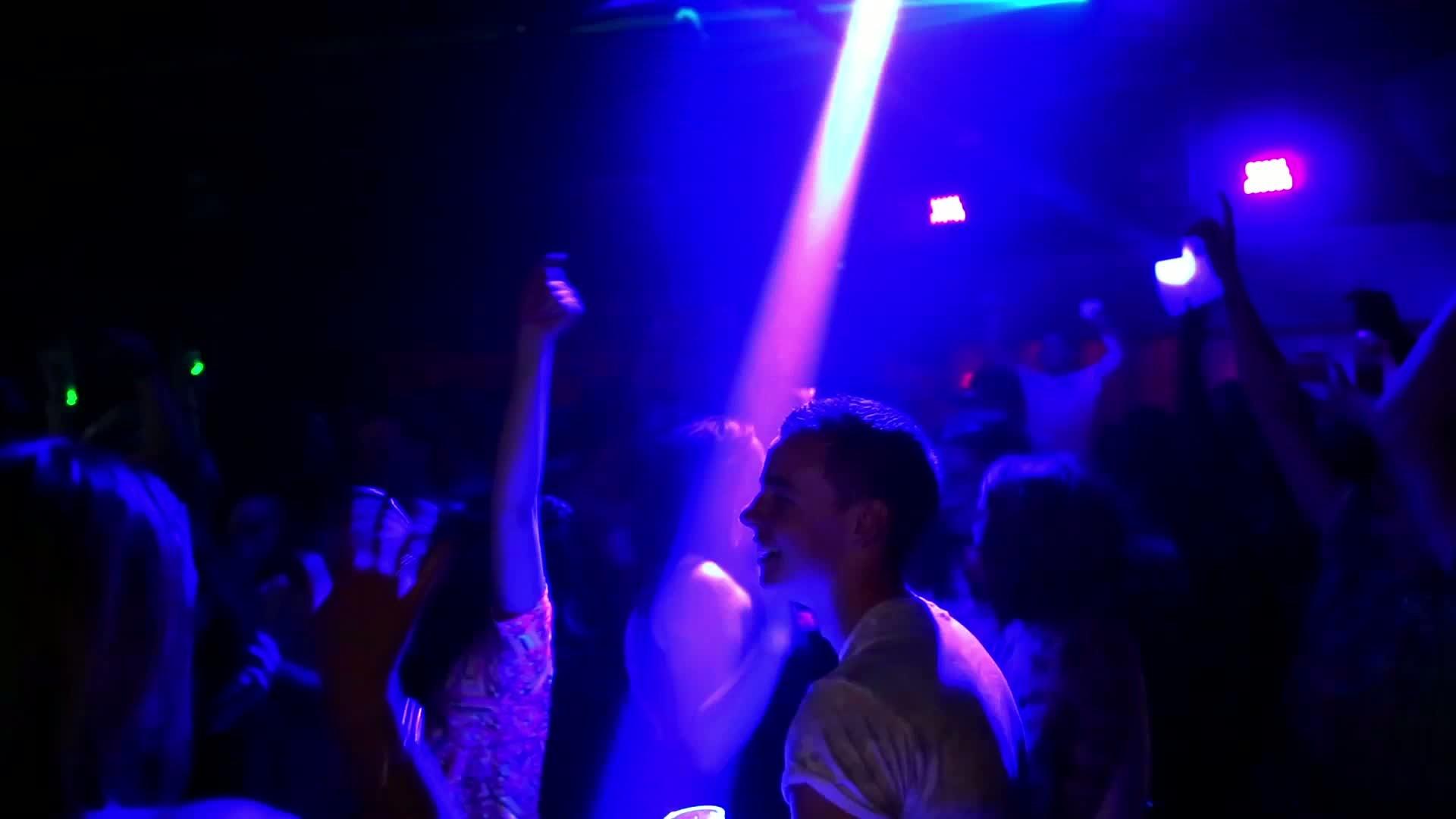 Nightclub Smoke Machine + Dancing Free Stock Video Footage Download Clips