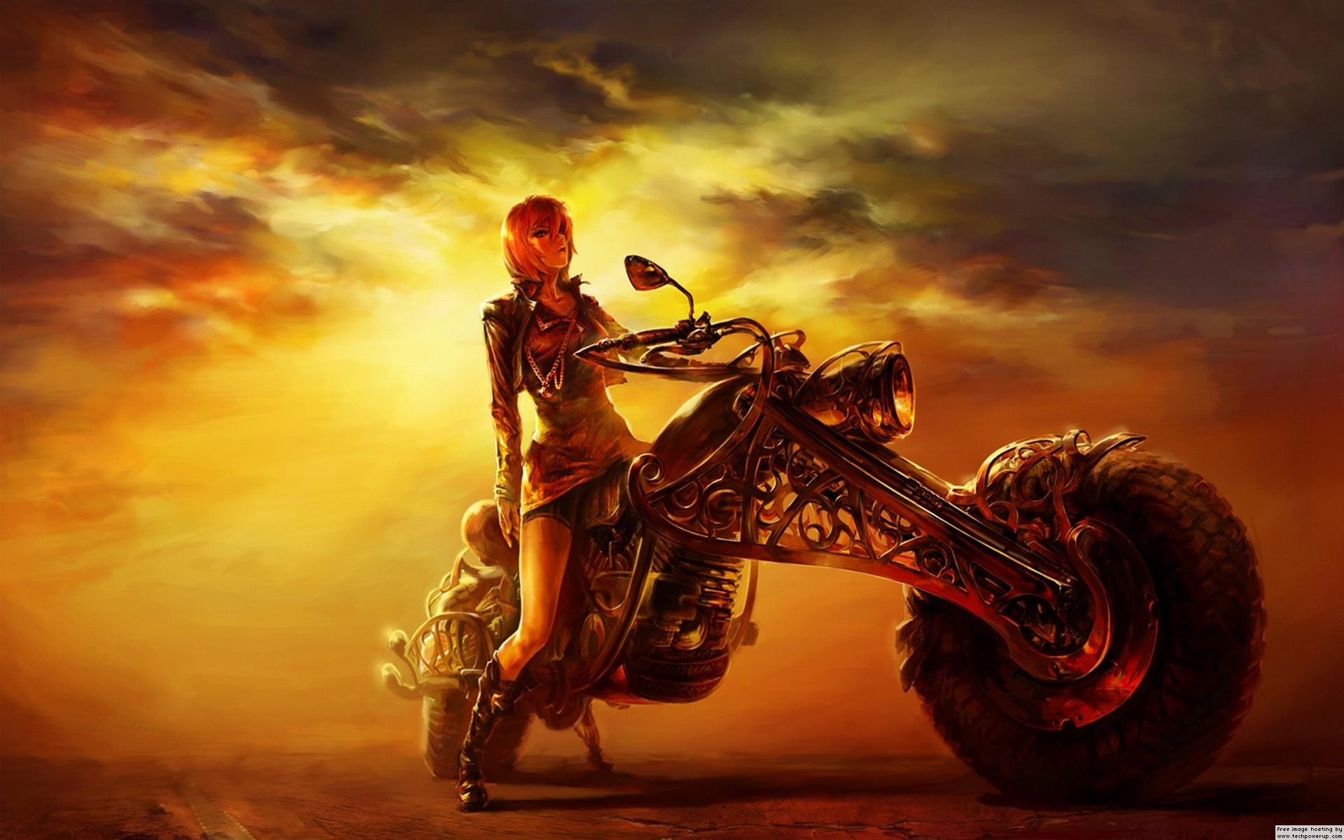 Lady Biker – Fantasy Wallpaper ID 103999 – Desktop Nexus Abstract