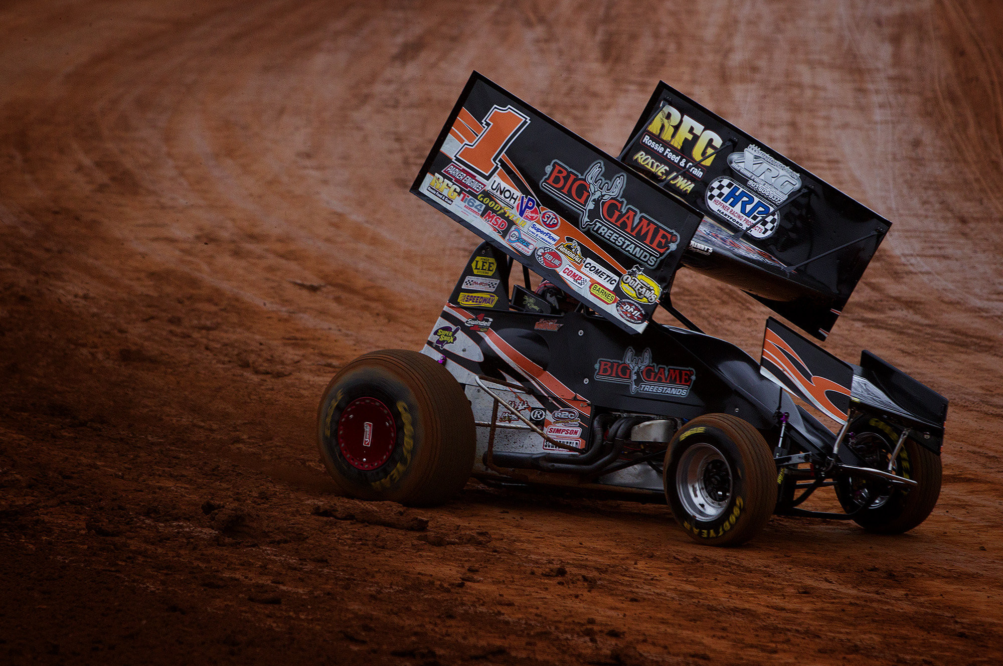 Car racing have helped the locals compete with the World of Outlaws .
