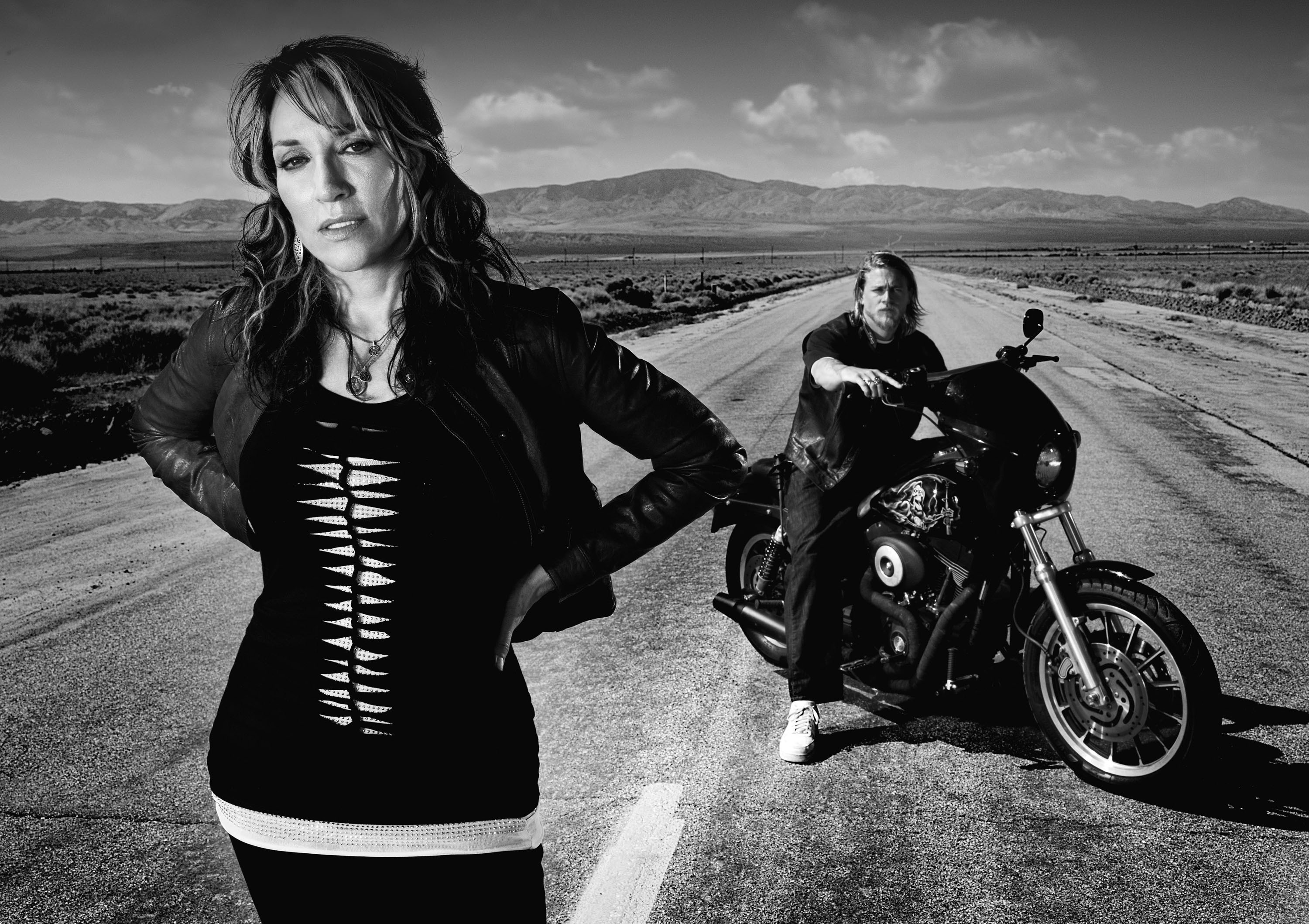 Sons of Anarchy depicts a Californian outlaw biker gang and features  Charlie Hunnam, Katey Sagal