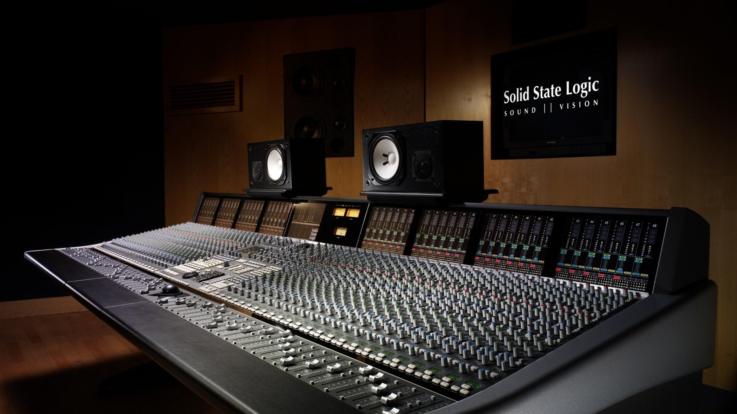 Wallpaper sound recording, studio, equipment