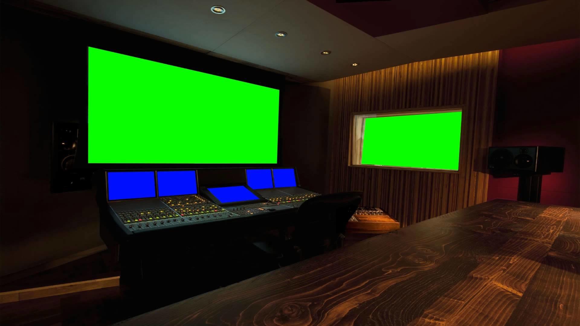 music recording studio in green screen free stock footage FULL HD – YouTube