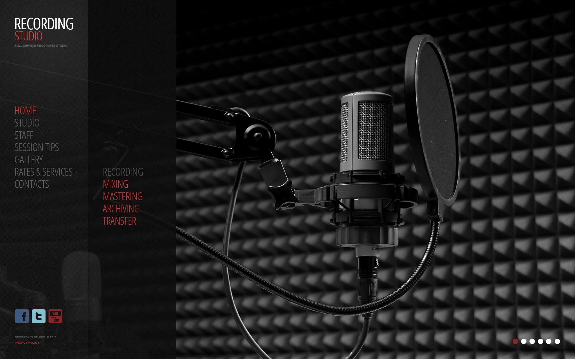 Music Recording Studio HD desktop wallpaper High