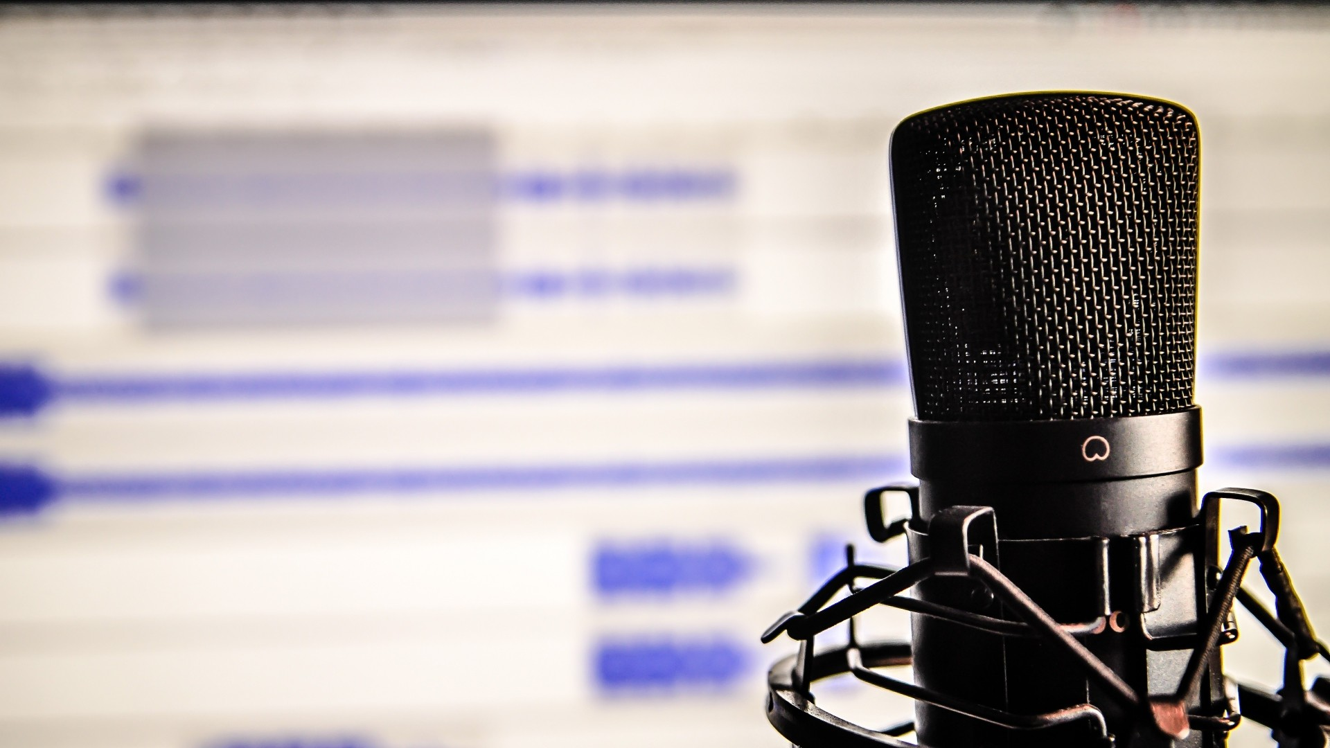 Preview wallpaper microphone, studio, recording 1920×1080