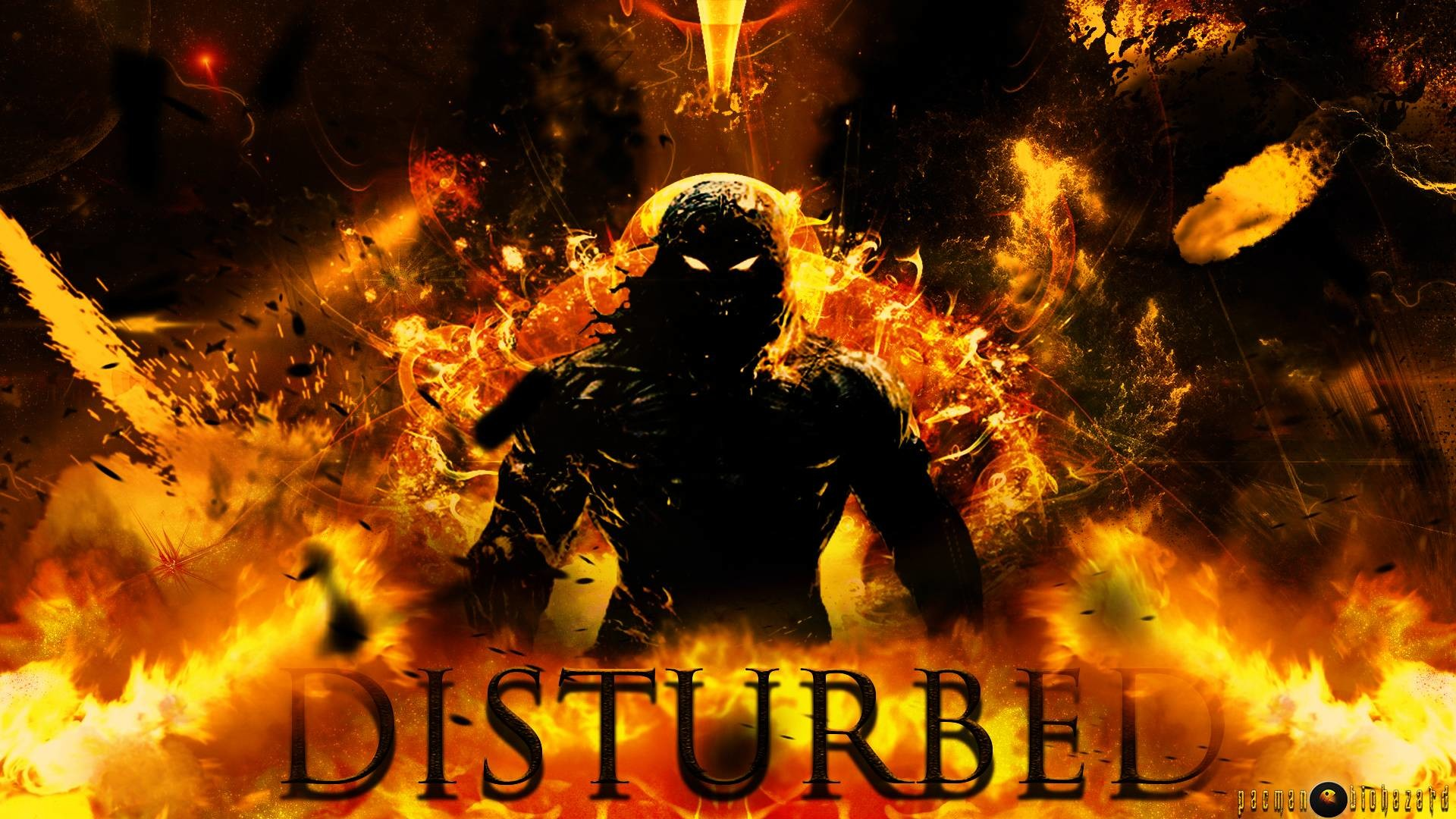 Disturbed (Band) HD Indestructible Background by pacmanbiohazard .