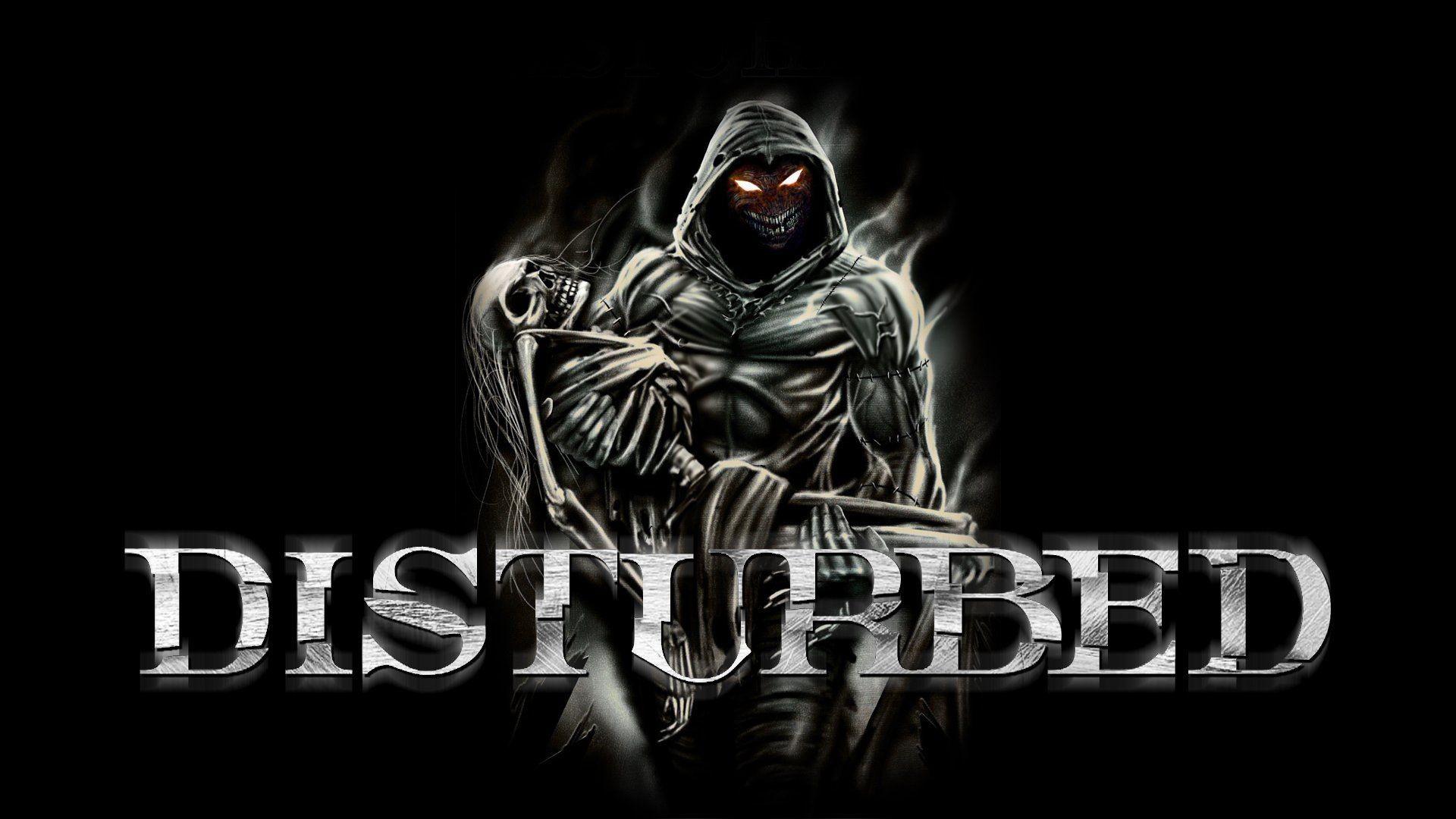 DISTURBED heavy metal alternative metal hard rock nu-metal dark .
