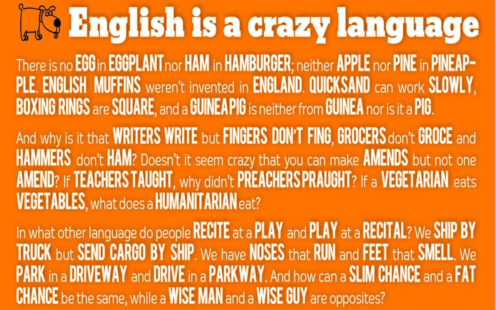 English is a crazy language HQ WALLPAPER – (#124230)