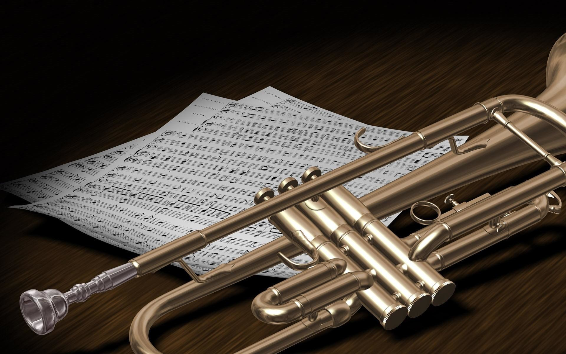 Country, Music, Instruments, Trumpets, Widescreen, High, Definition,  Wallpaper,