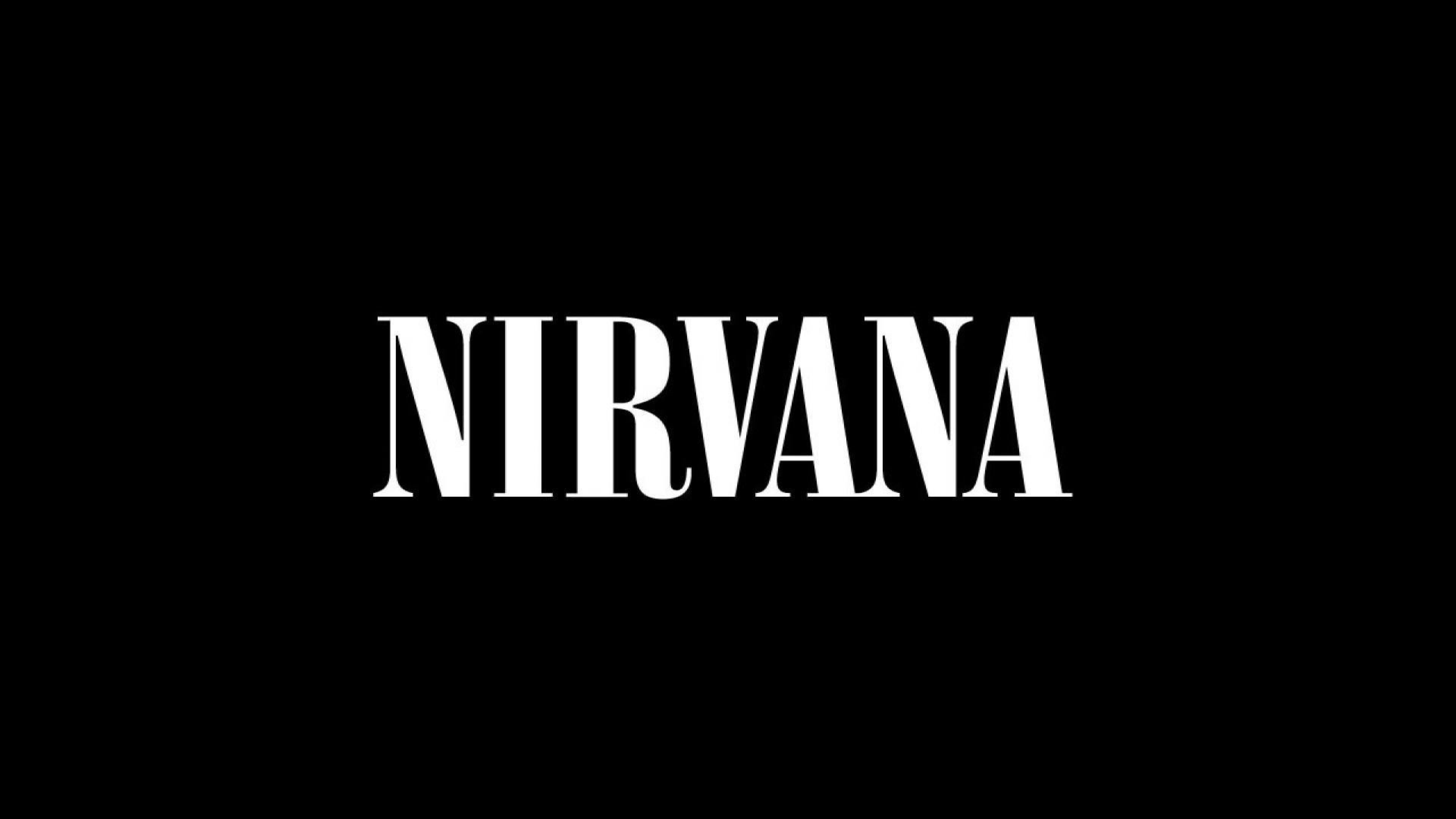 Preview wallpaper nirvana, sign, font, background, letters 3840×2160