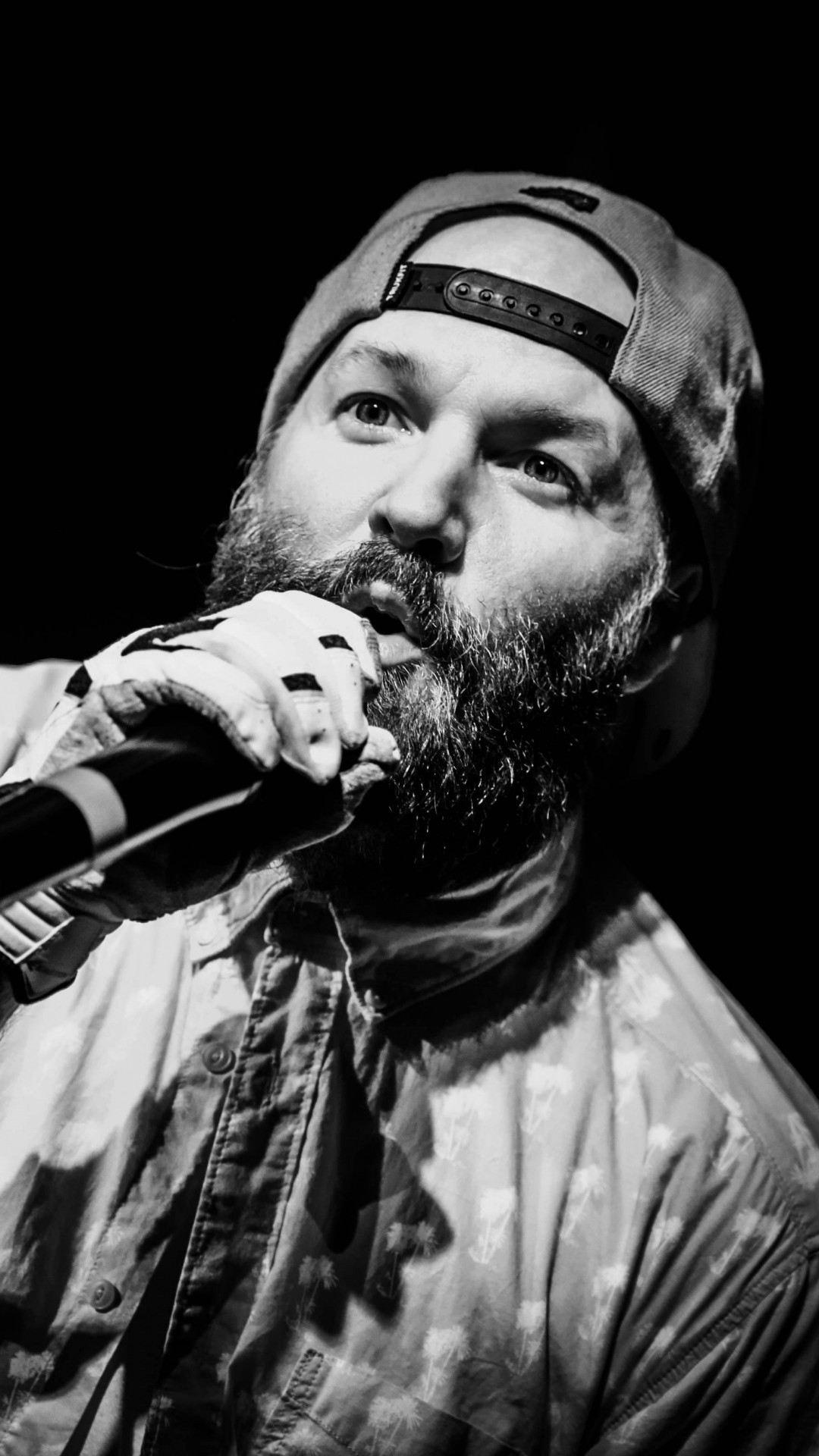 Fred Durst Limp Bizkit Music Rapcore Black White #iPhone #6 #plus #Wallpaper