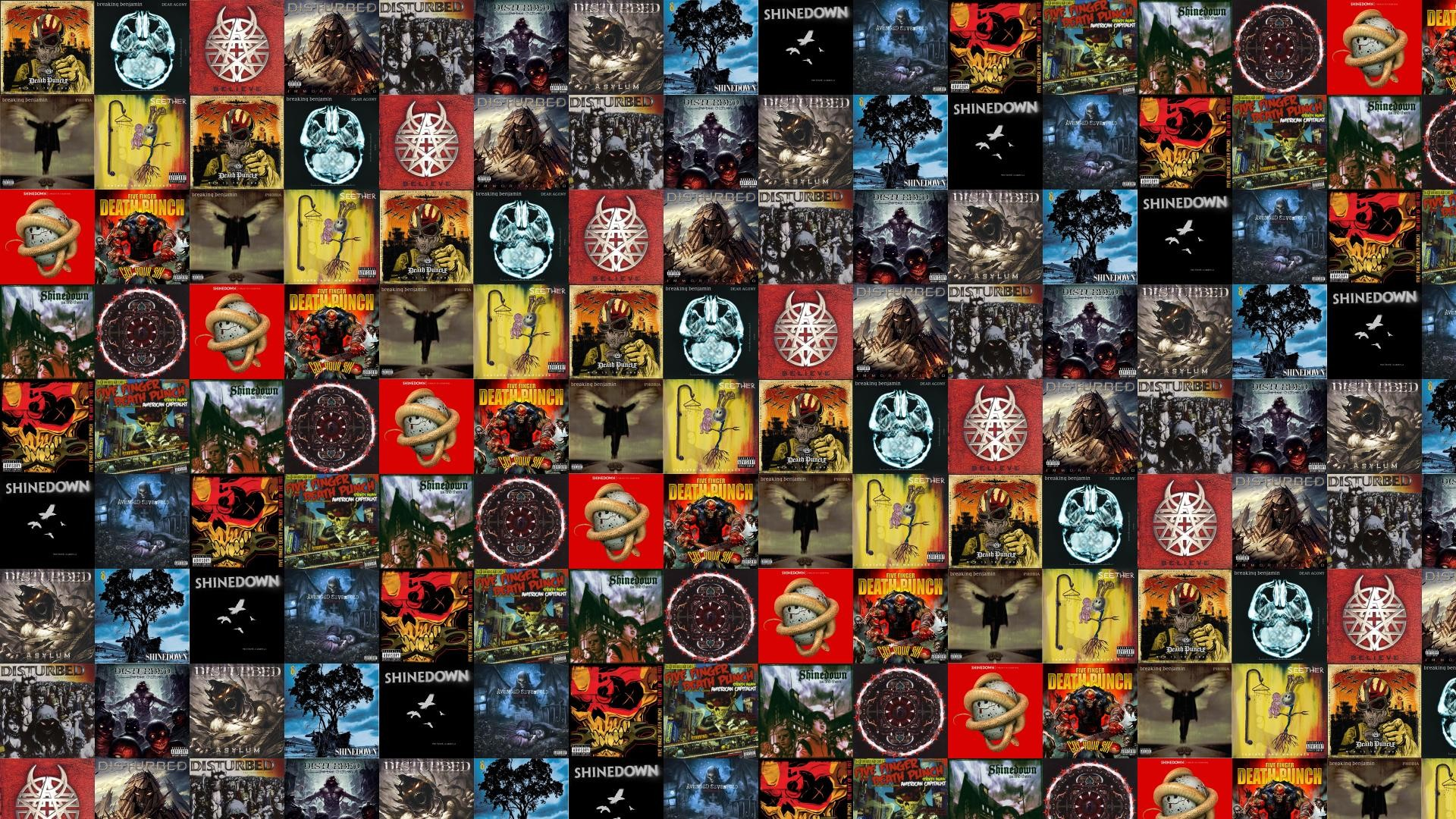 Download this free wallpaper with images of Five Finger Death Punch – War  Is The Answer, Breaking Benjamin – Dear Agony, Disturbed – Beleive, …