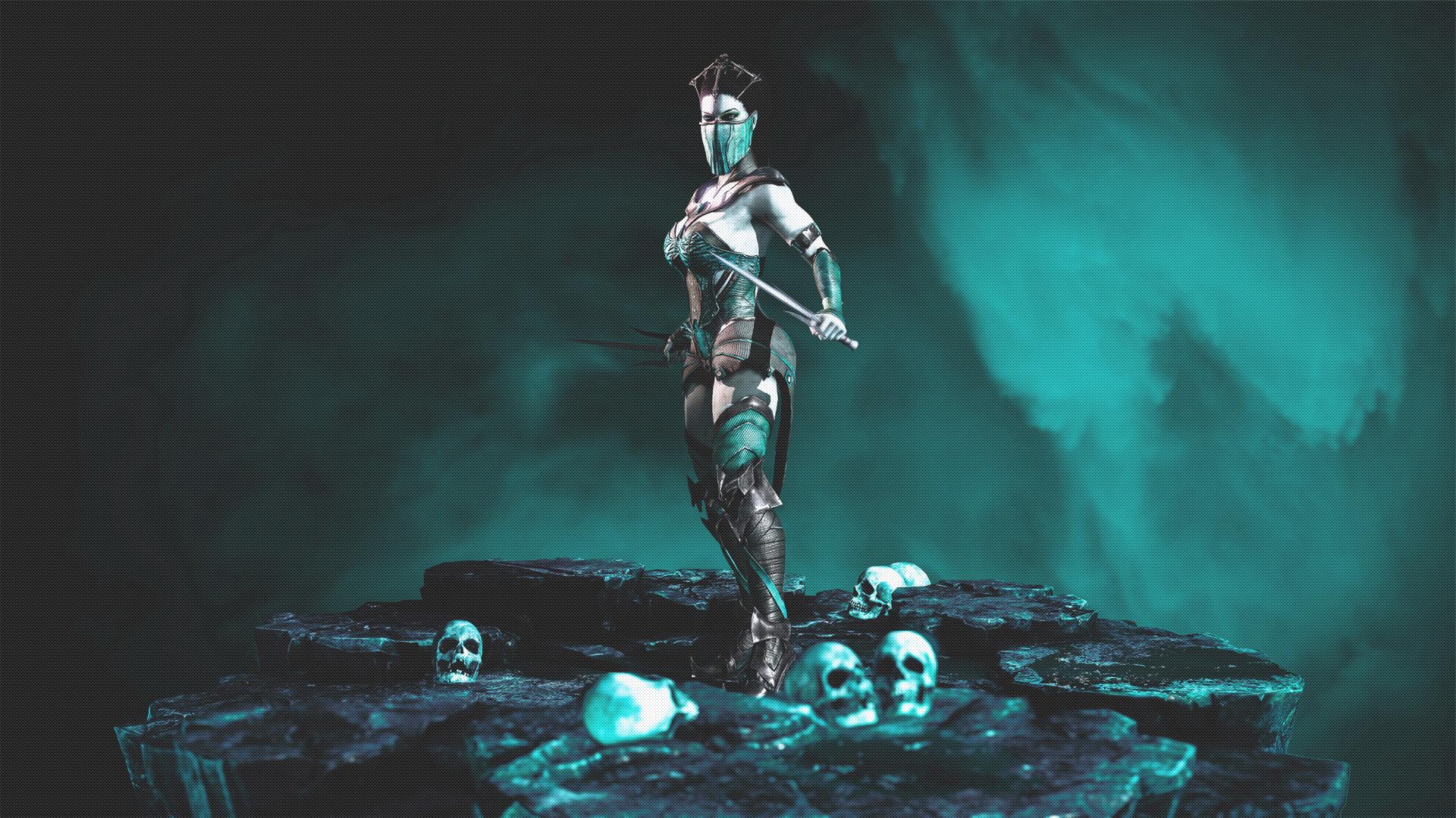 … MILEENA – Vampiress [WALLPAPER] by disturbedkorea