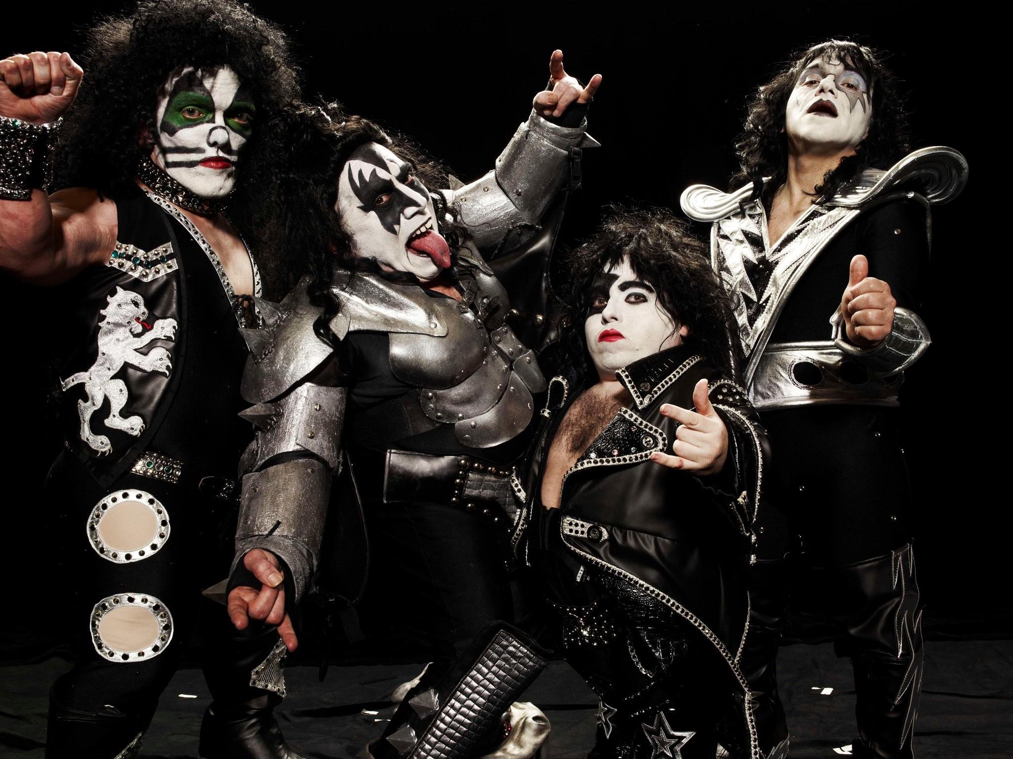Kiss wallpaper, heavy metal rock bands humor | Wallpaper