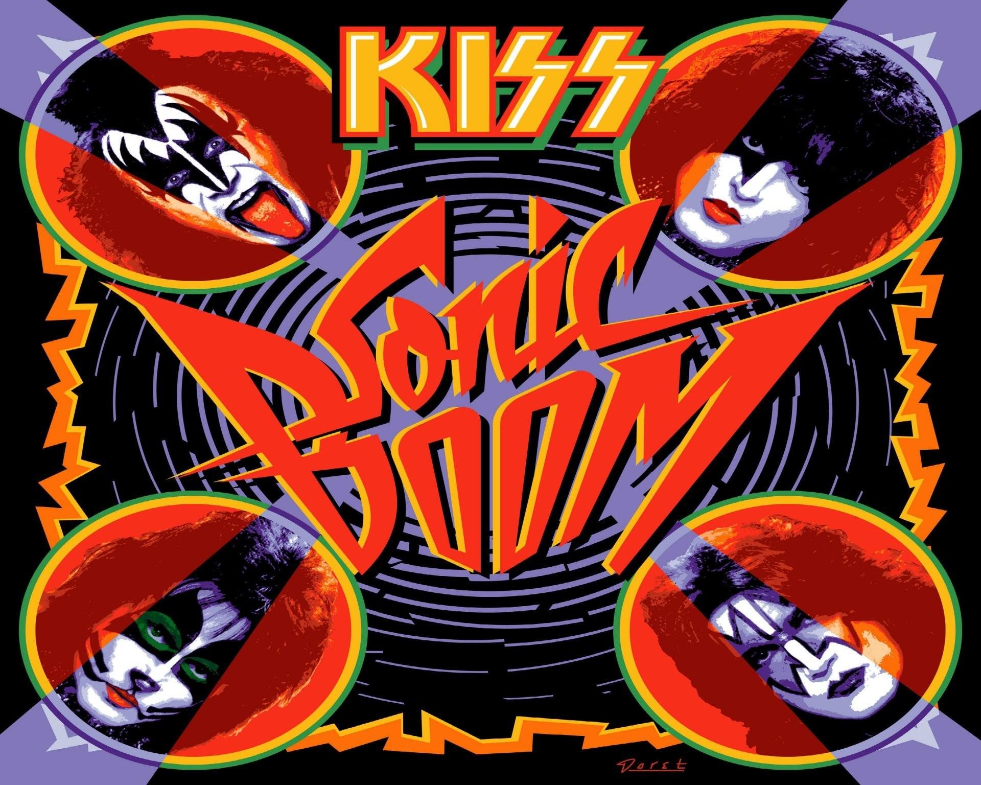 kiss kiss american rock band hard rock heavy metal poster