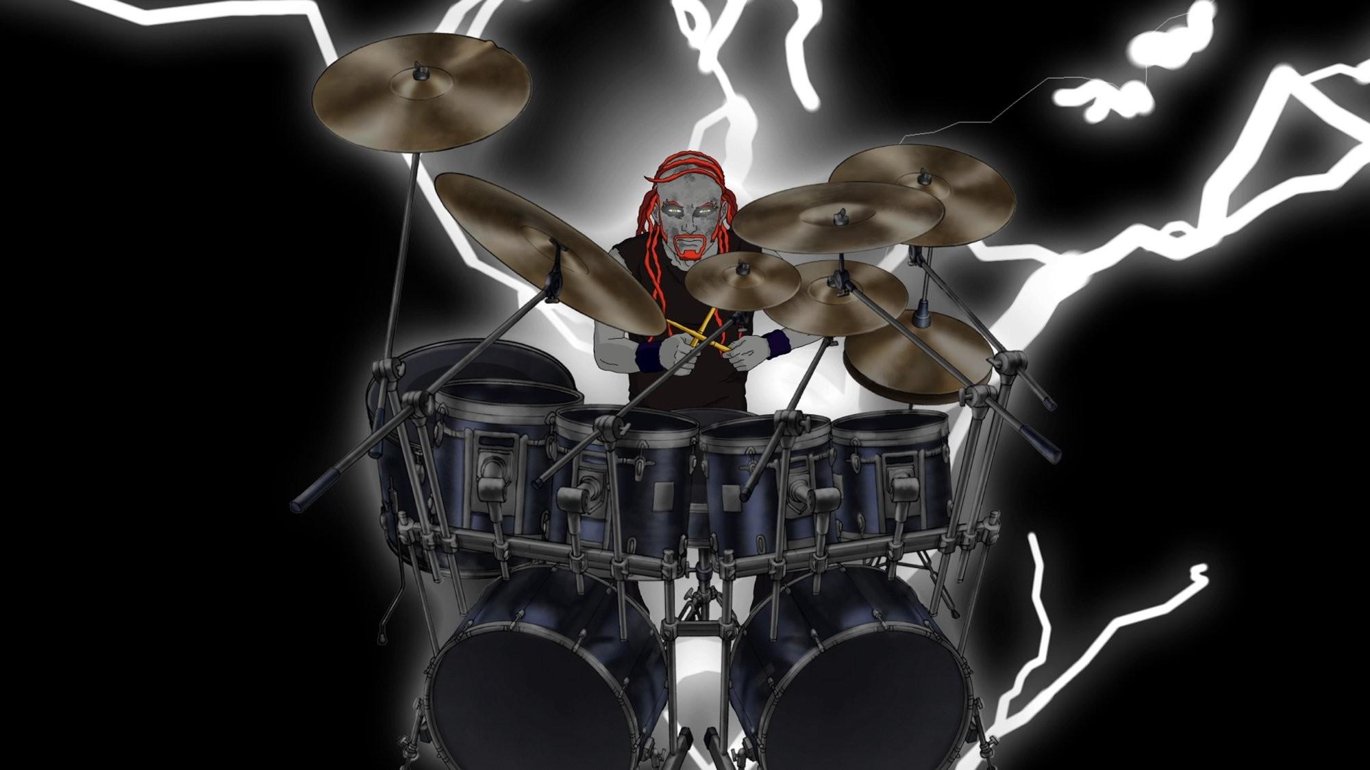 Rock Band Drummer Cartoon | … music cartoons hard rock band groups  metalocalypse drums