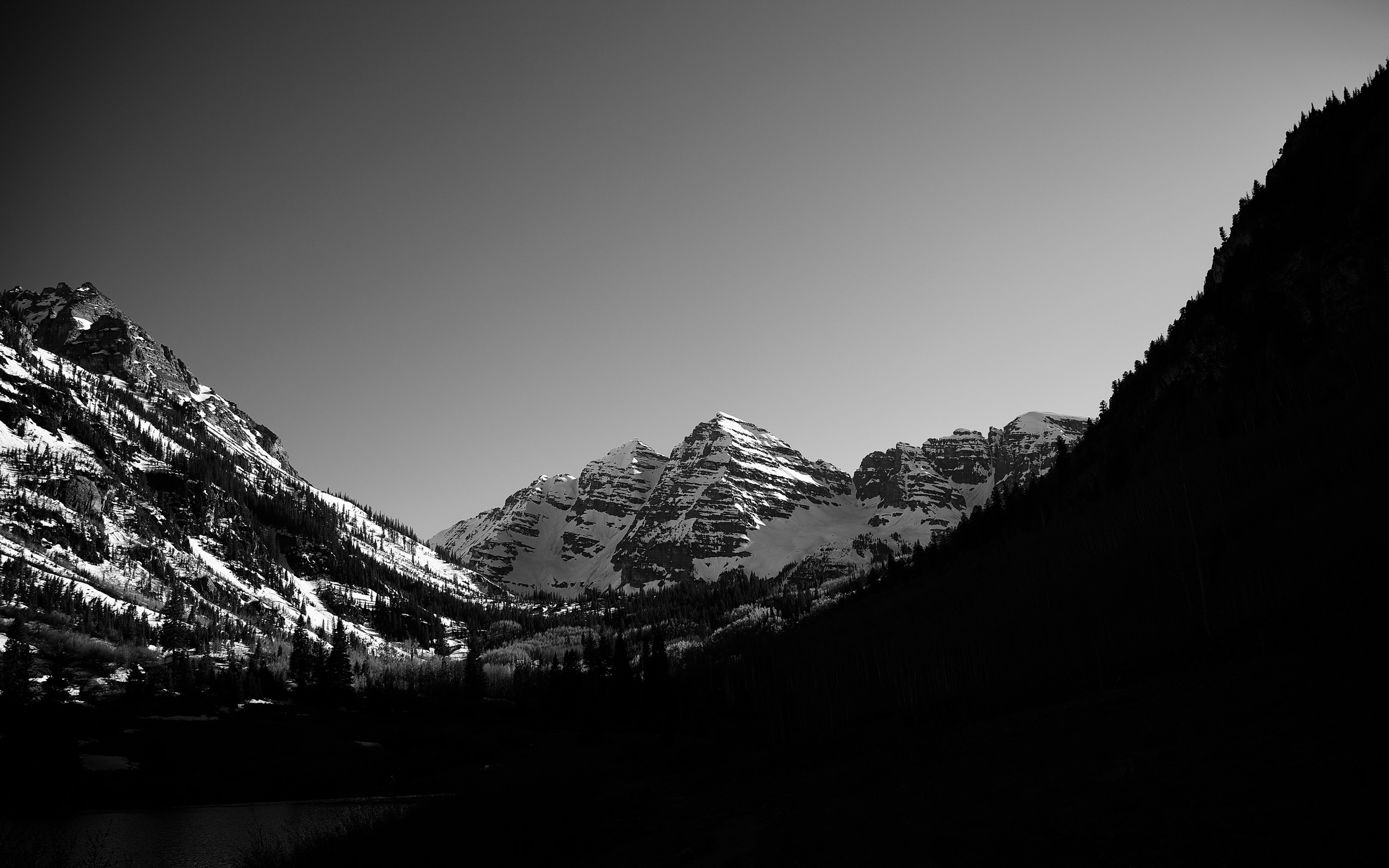 https://eskipaper.com/images/monochrome-forest-mountains-scenery-1.jpg |  Nature | Pinterest | Mountain wallpaper, Mountains and Wallpaper