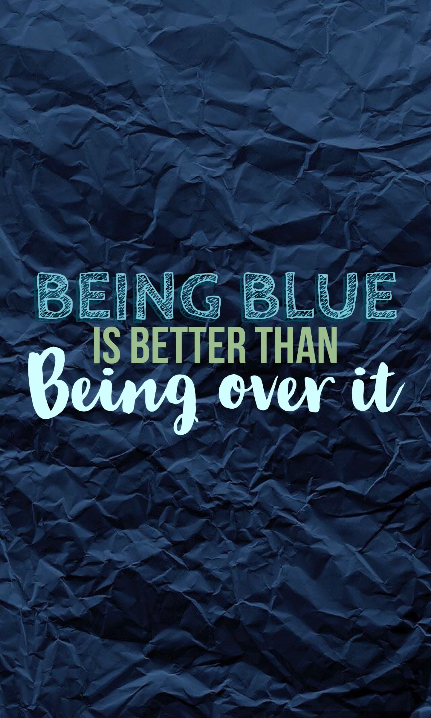 "Hallelujah by Panic! at the disco lyrics ""being blue is better than being  over"