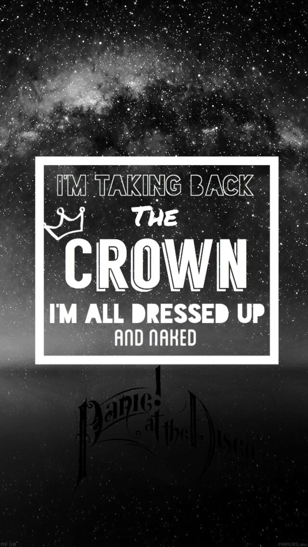 Emperor's new clothes – Panic At The Disco I'm taking back the crown I